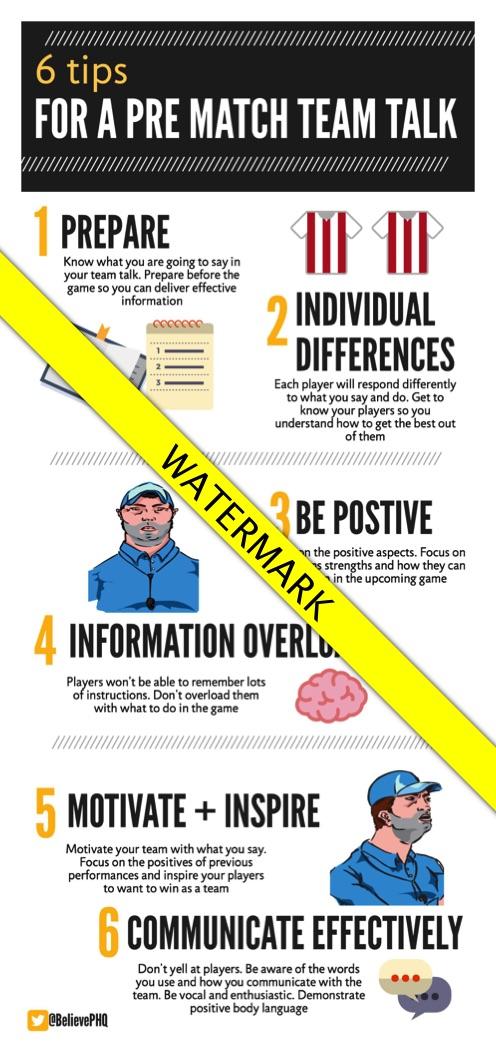 6 tips for a pre match team talk