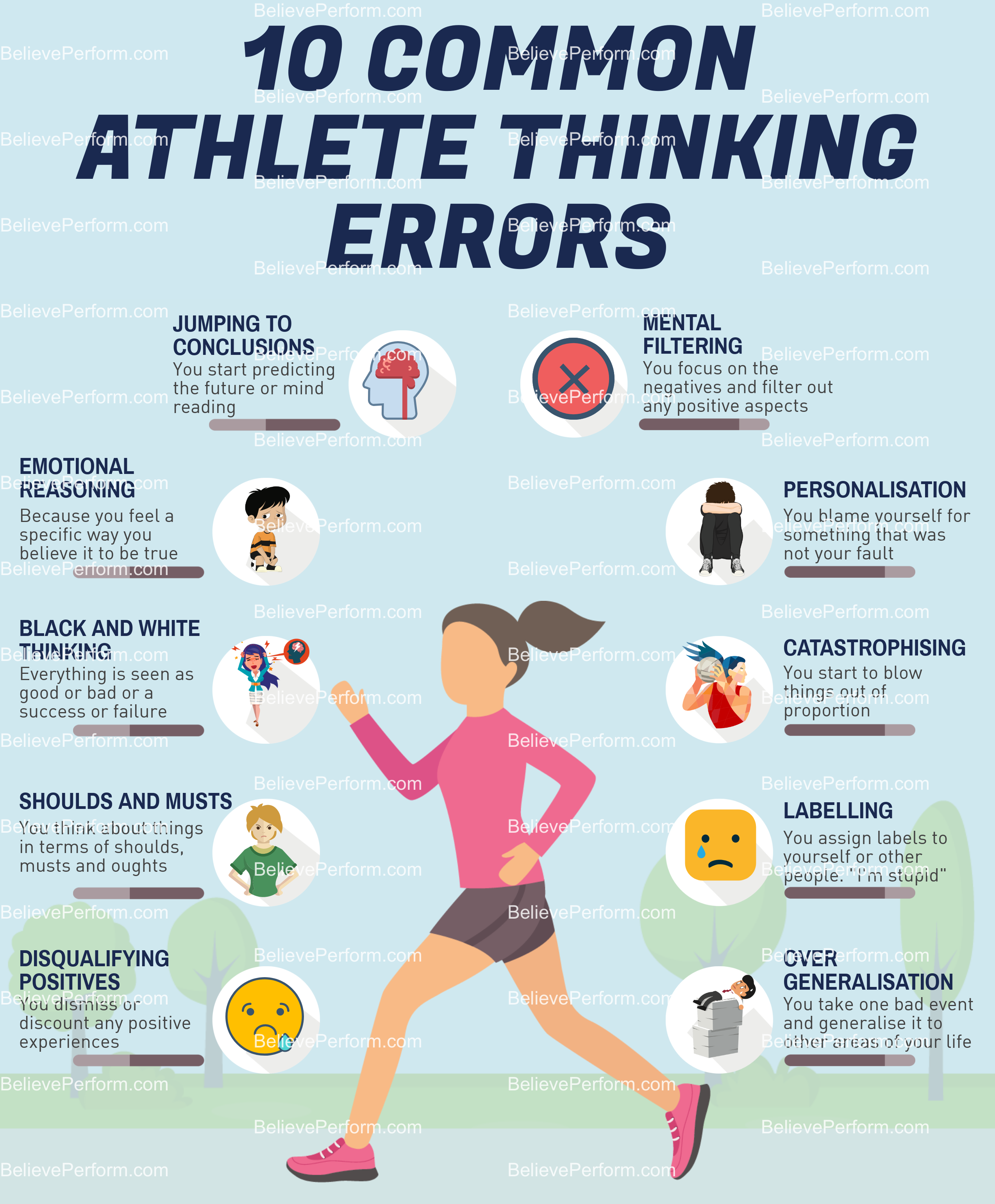 10 common athlete thinking errors