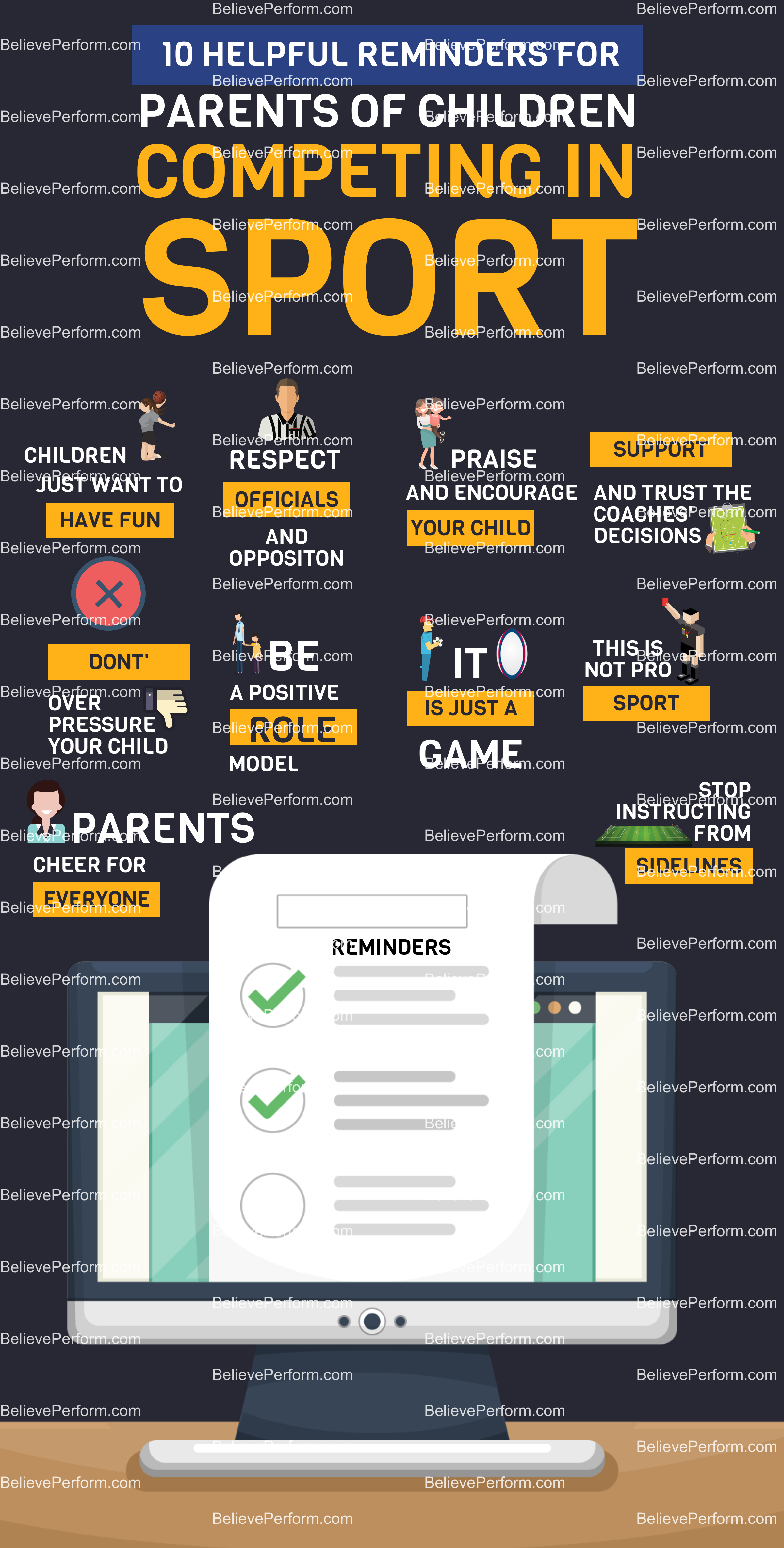 10 helpful reminders for parents of children competing in sport