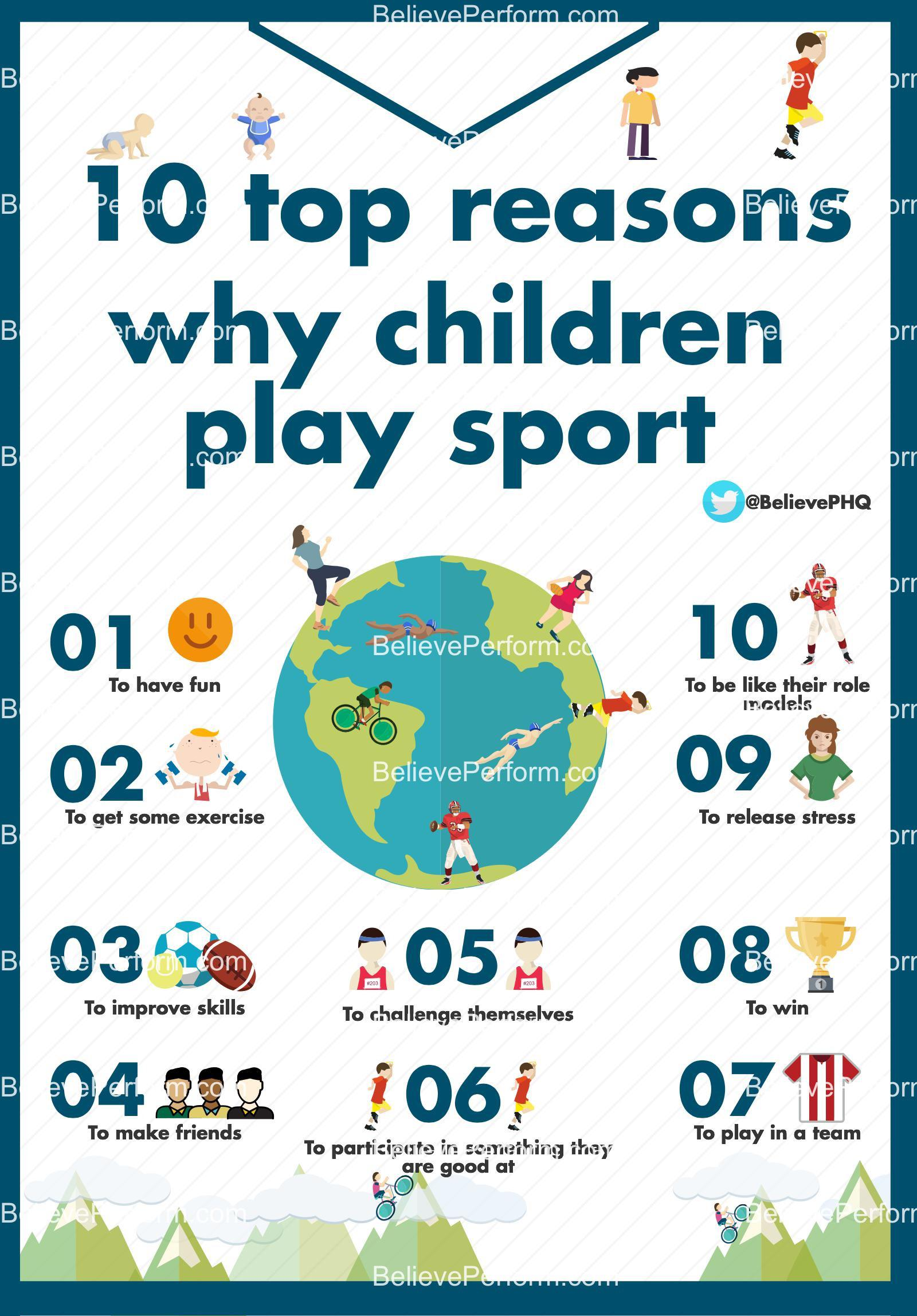 10 reasons why children play sport