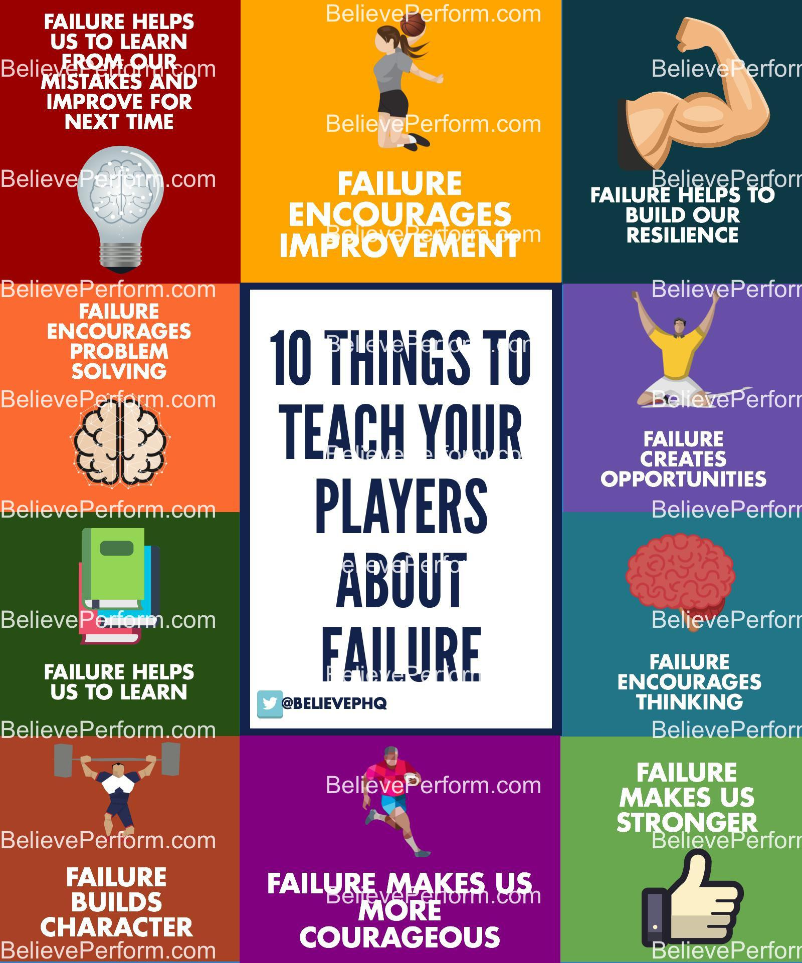 10 things to teach athletes about failure