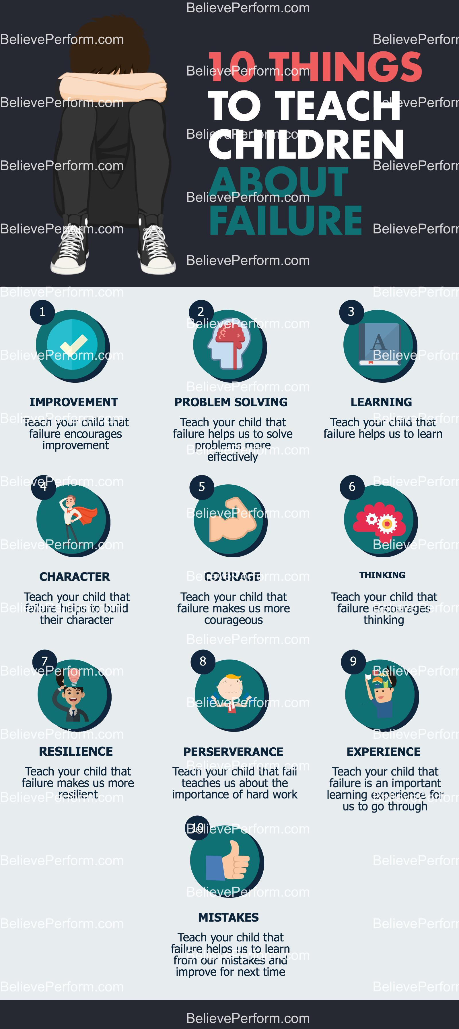 10 things to teach children about failure