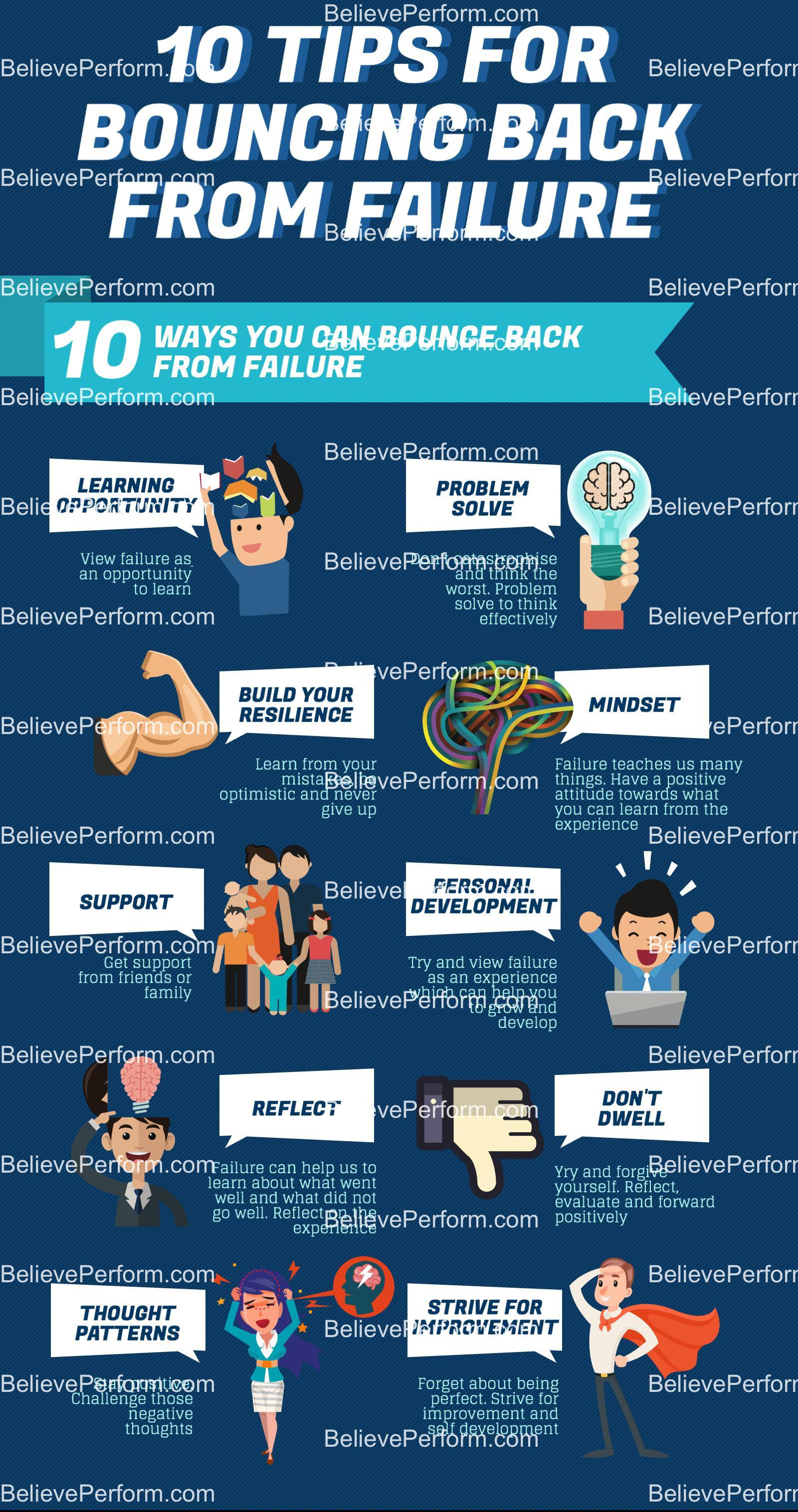 10 tips for bouncing back from failure