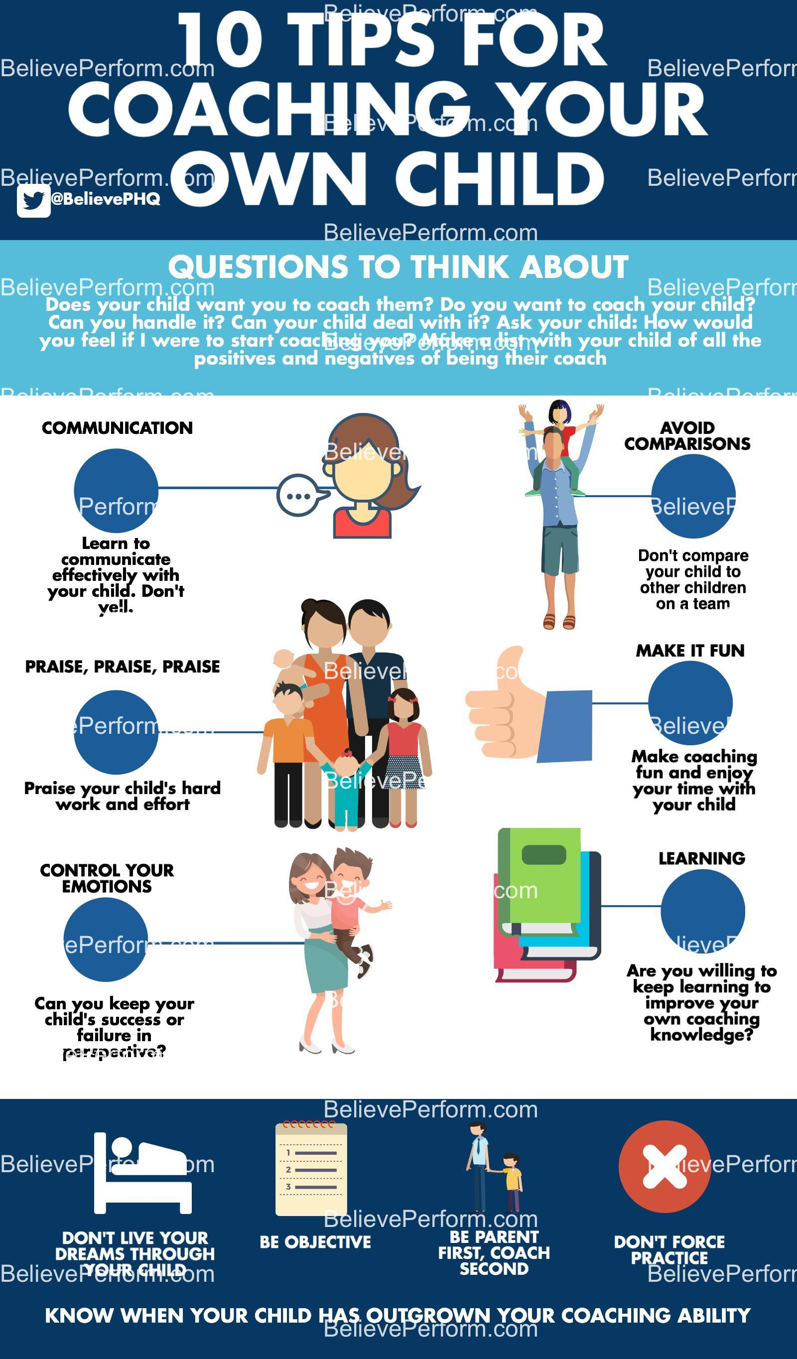 10 tips for coaching your own child