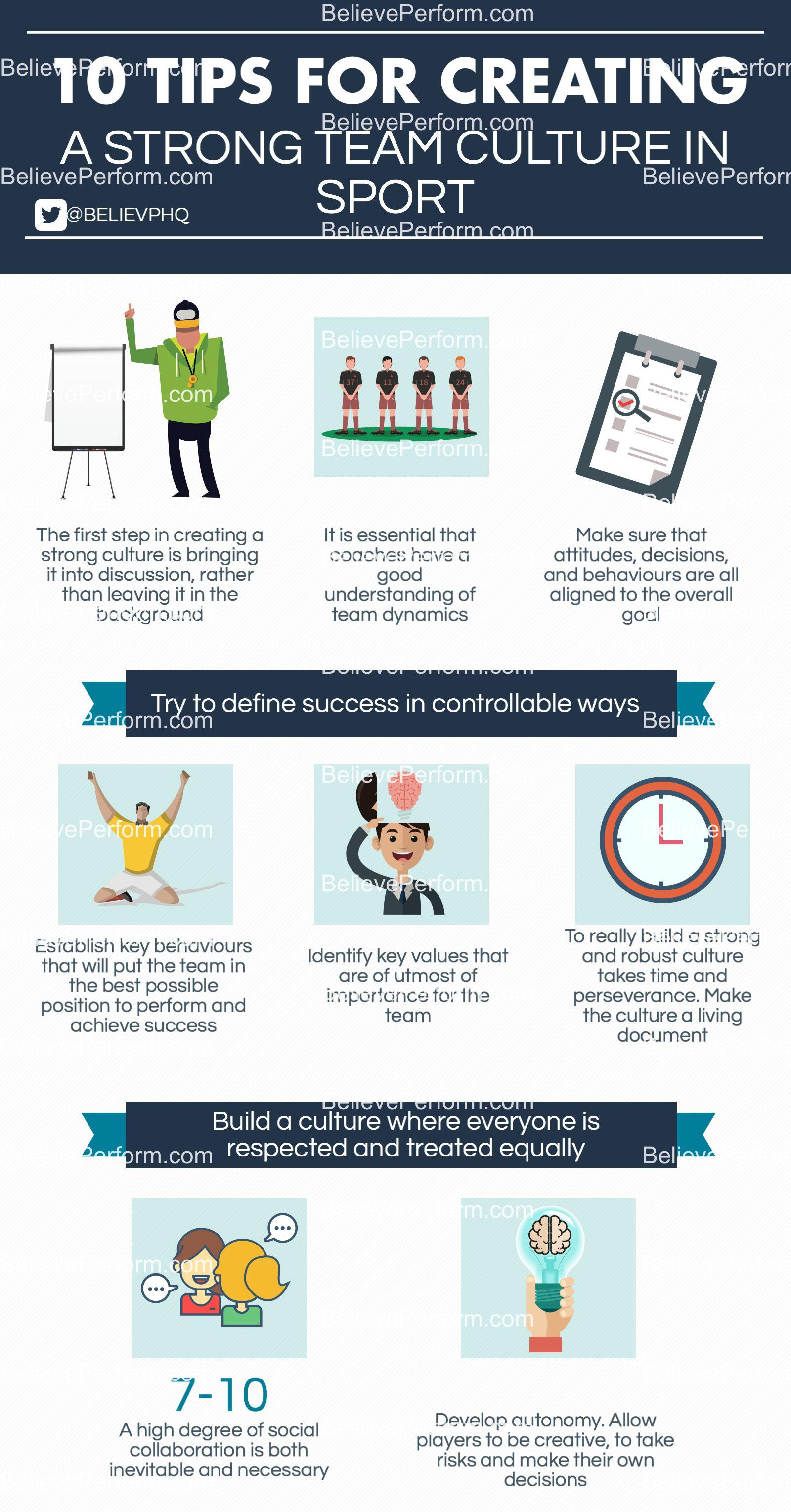 10 tips for creating a strong team culture in sport