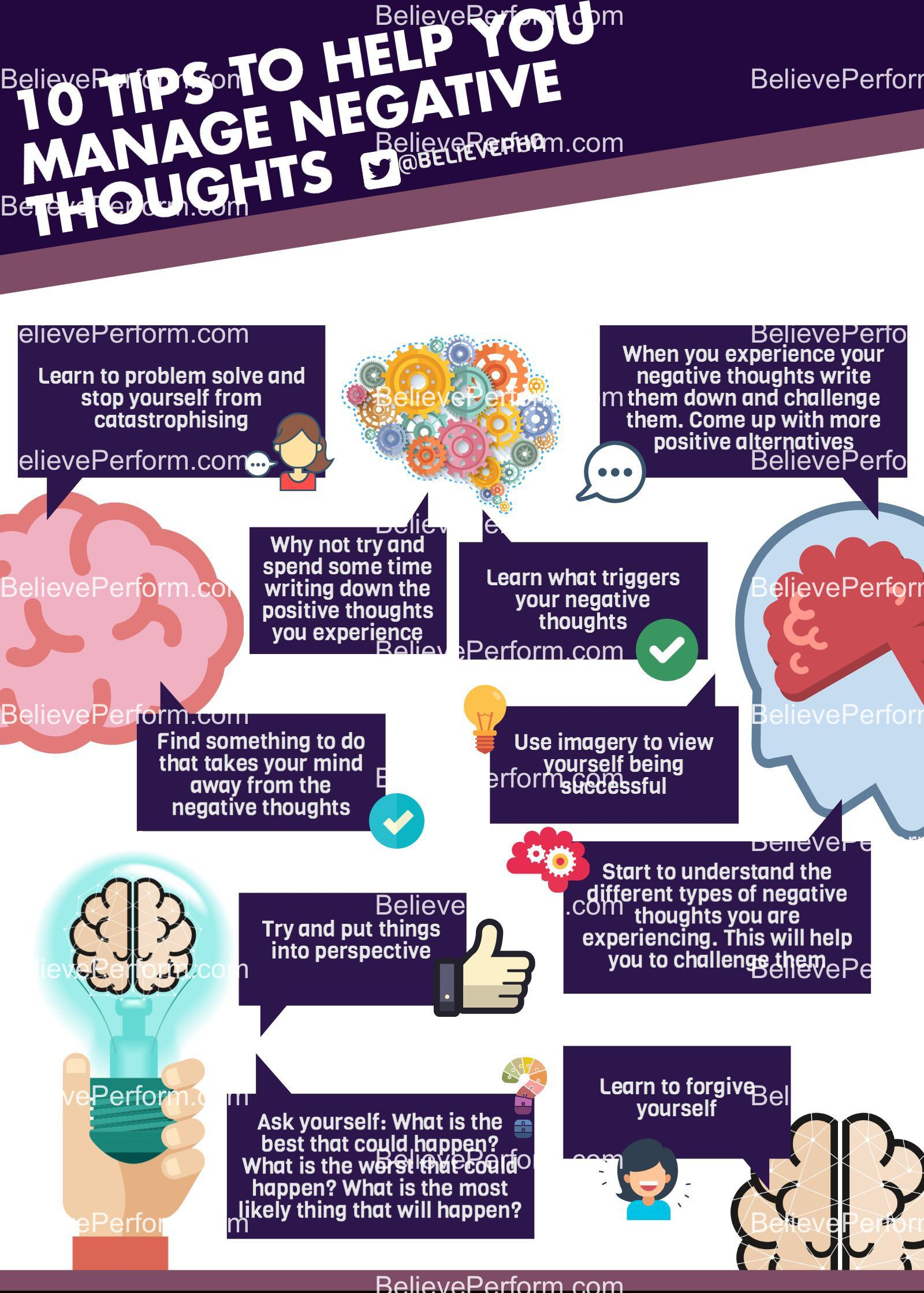 10 tips to help you manage negative thoughts