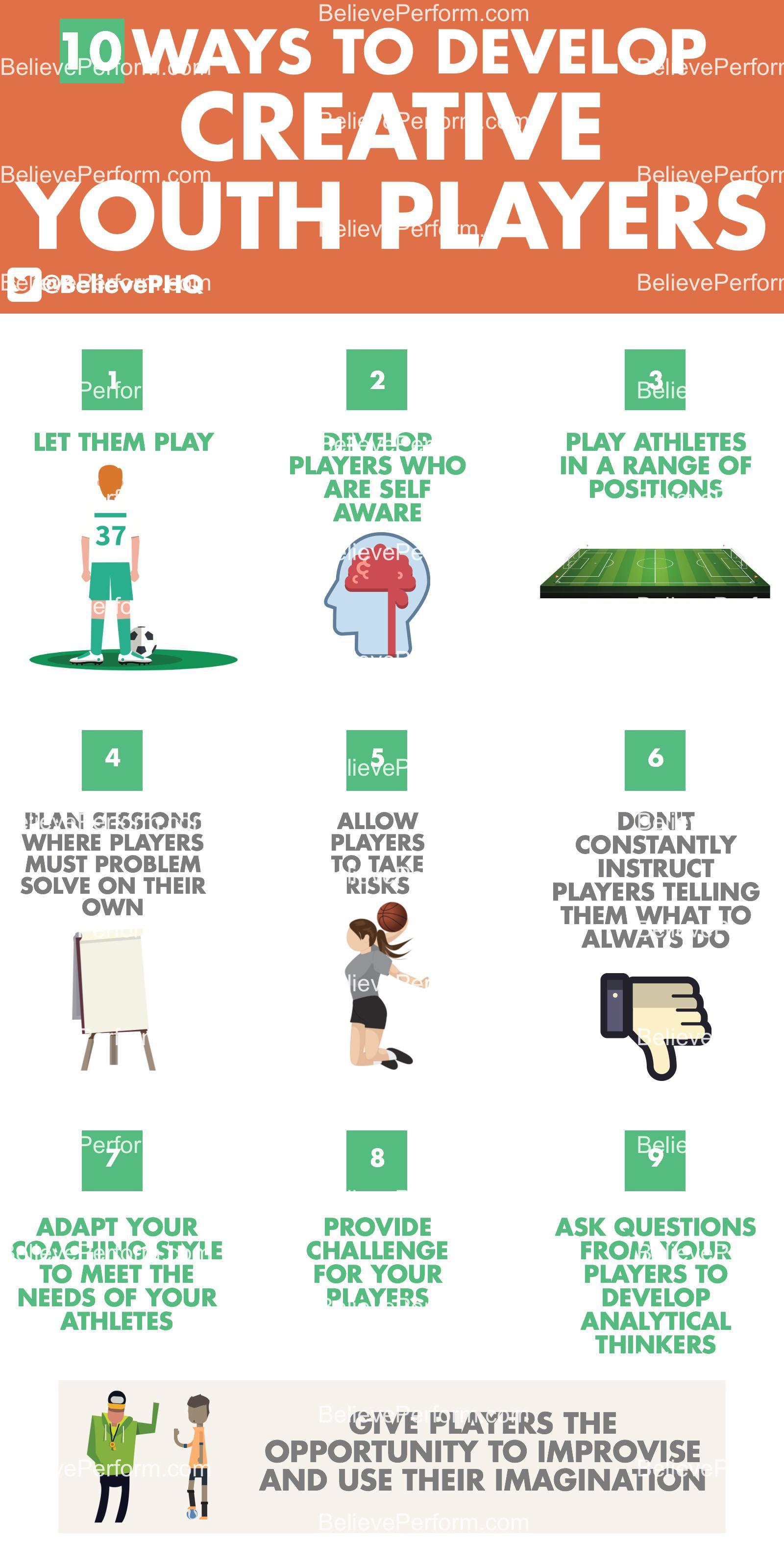 10 ways to develop creative youth players