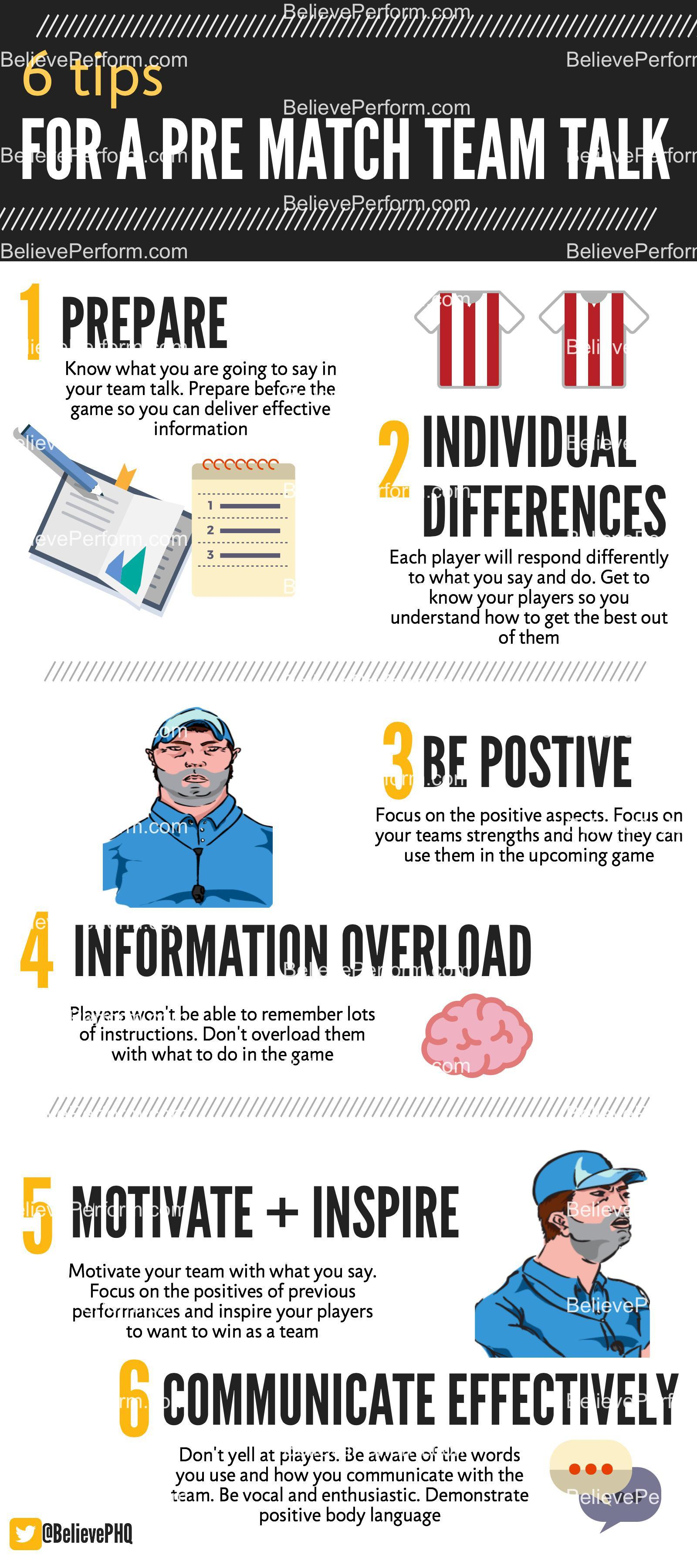 6 tips for a pre match team talk