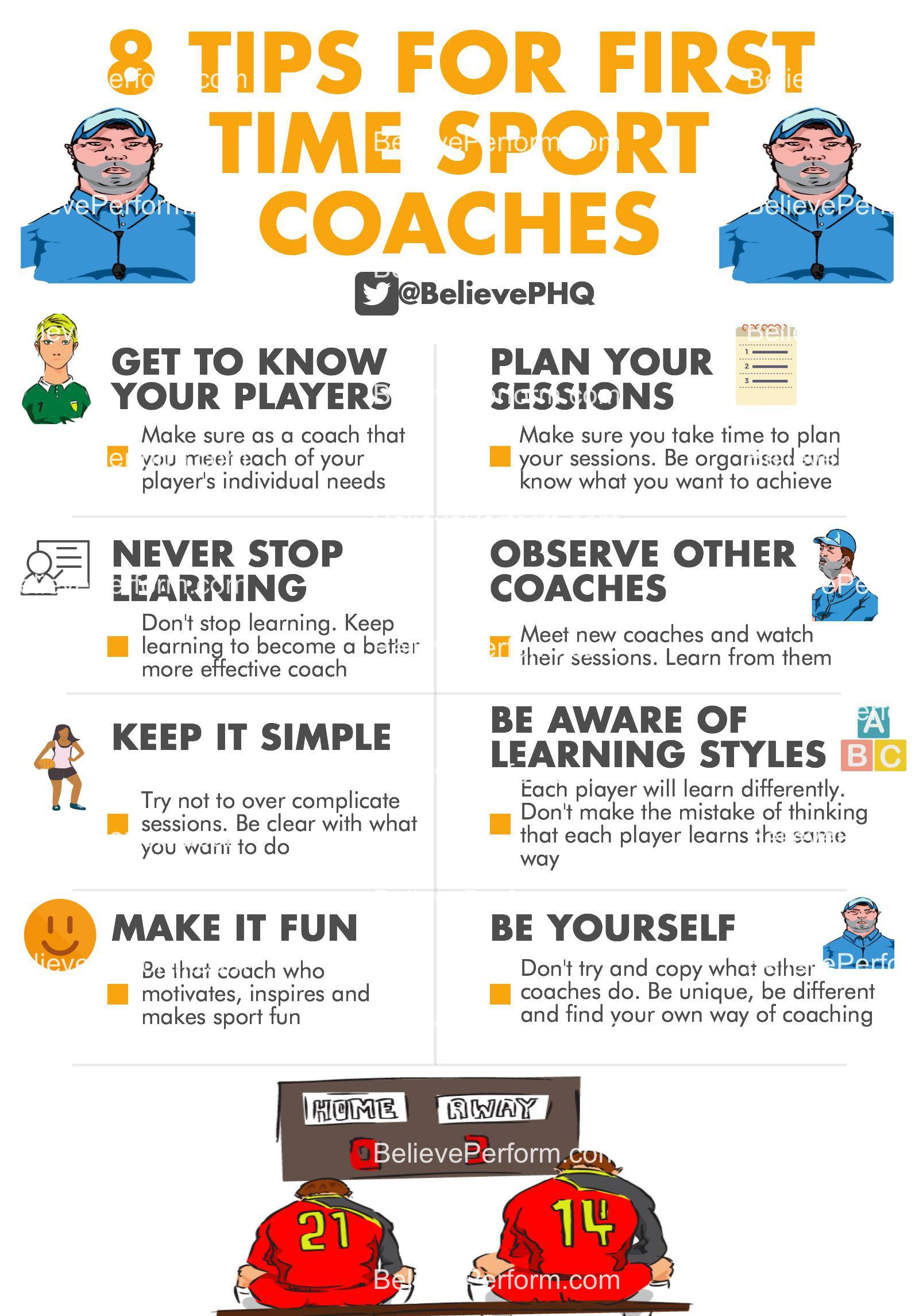 8 tips for first time sport coaches