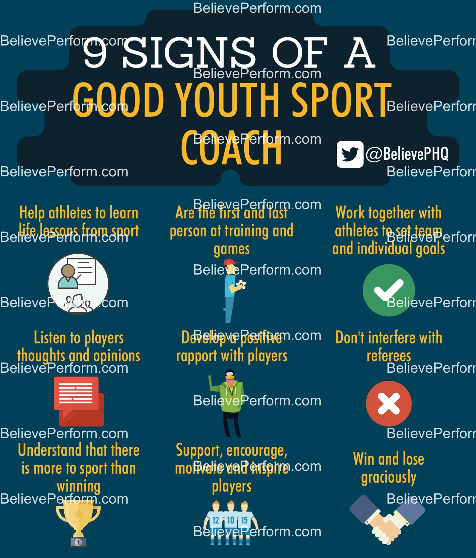 9 signs of a good youth sport coach