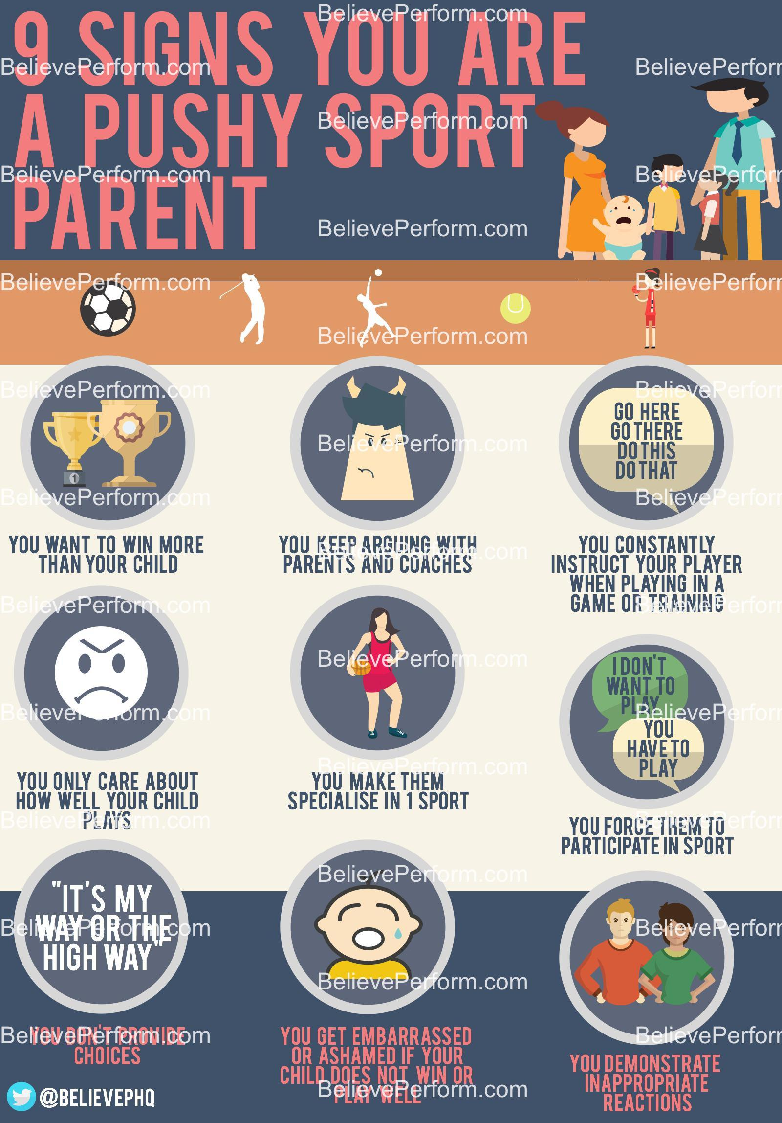 9 signs you are a pushy sport parent