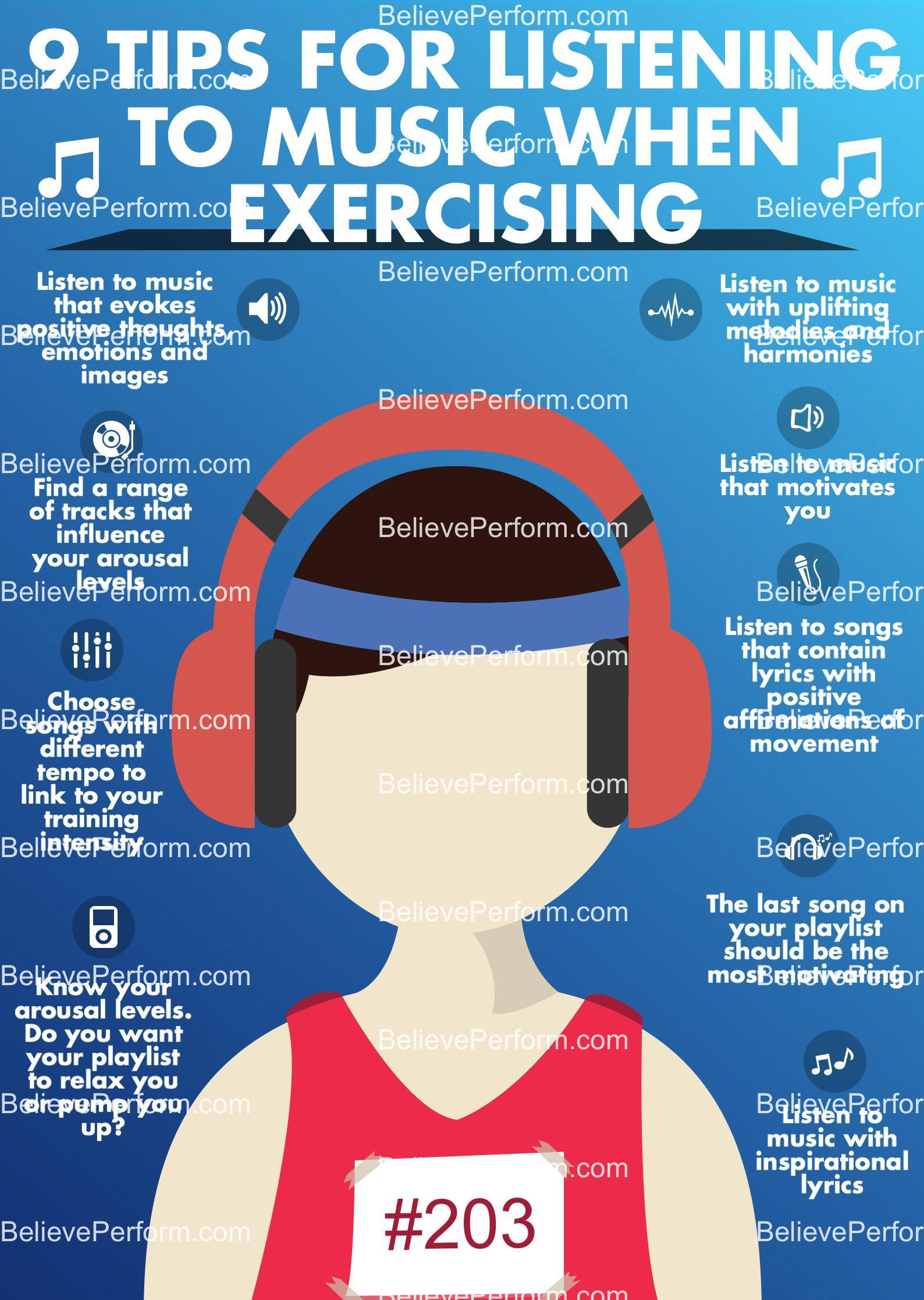 9 tips for listening to music when exercising