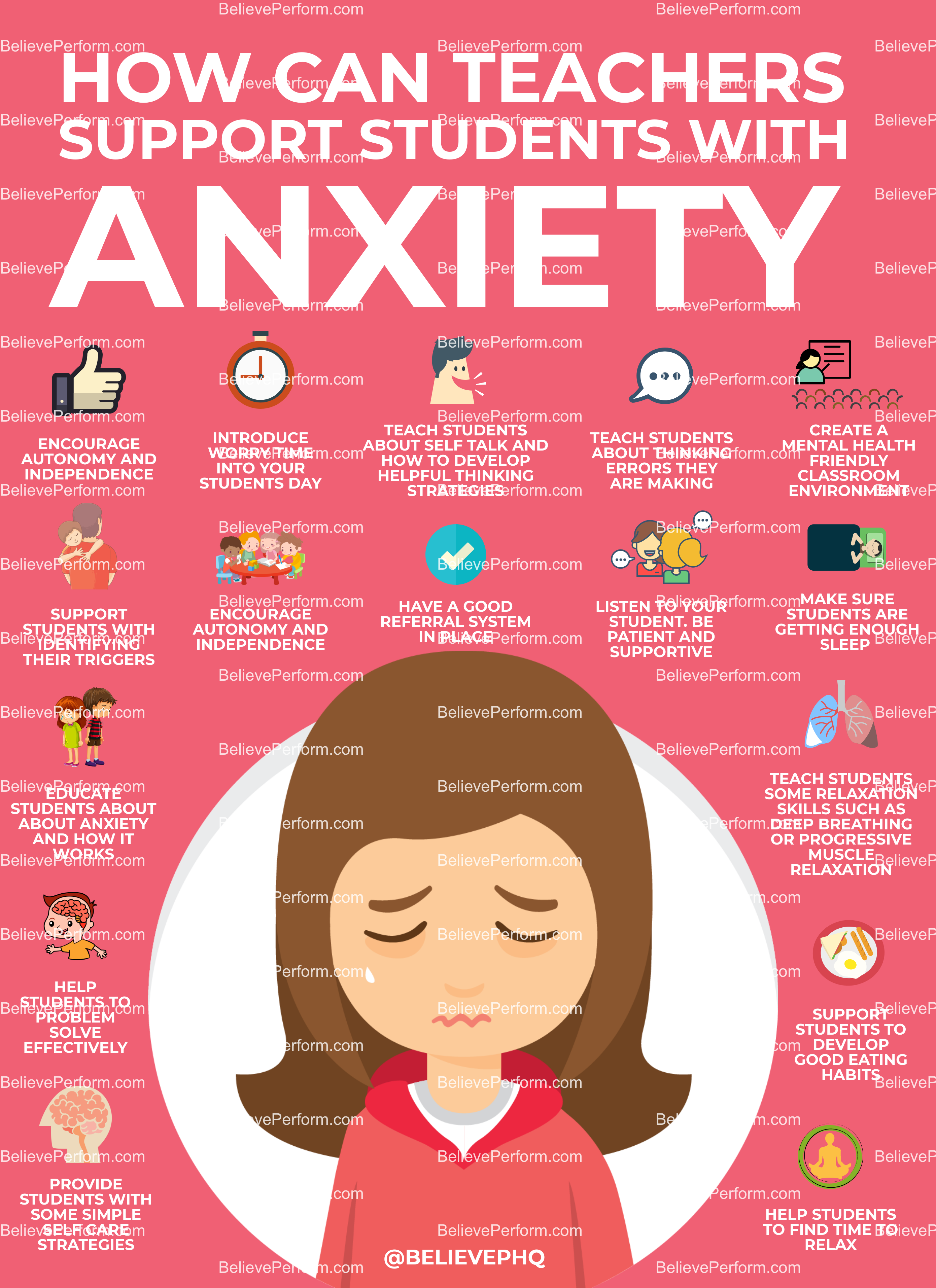 How can teachers support students with anxiety