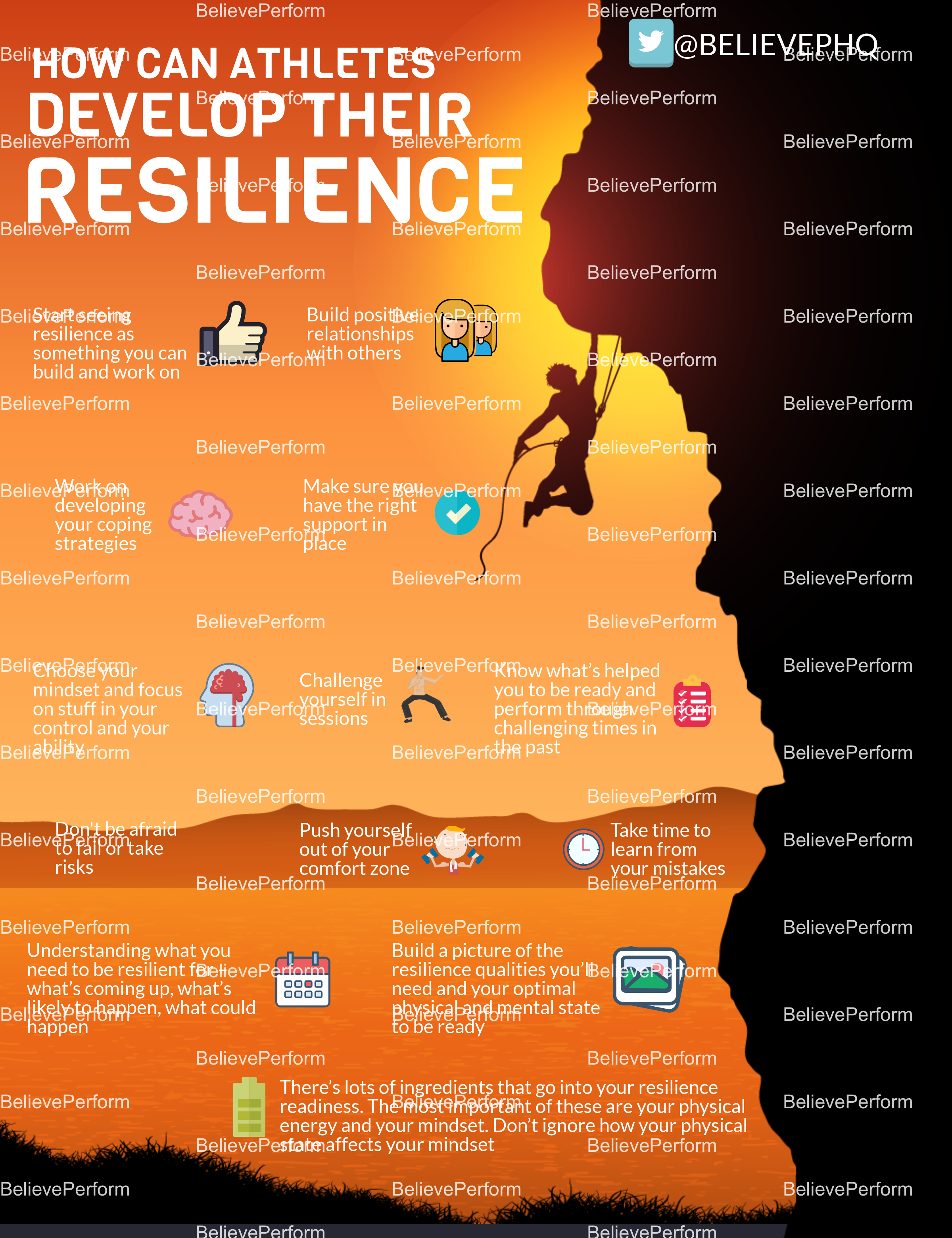 How can athletes develop their resilience