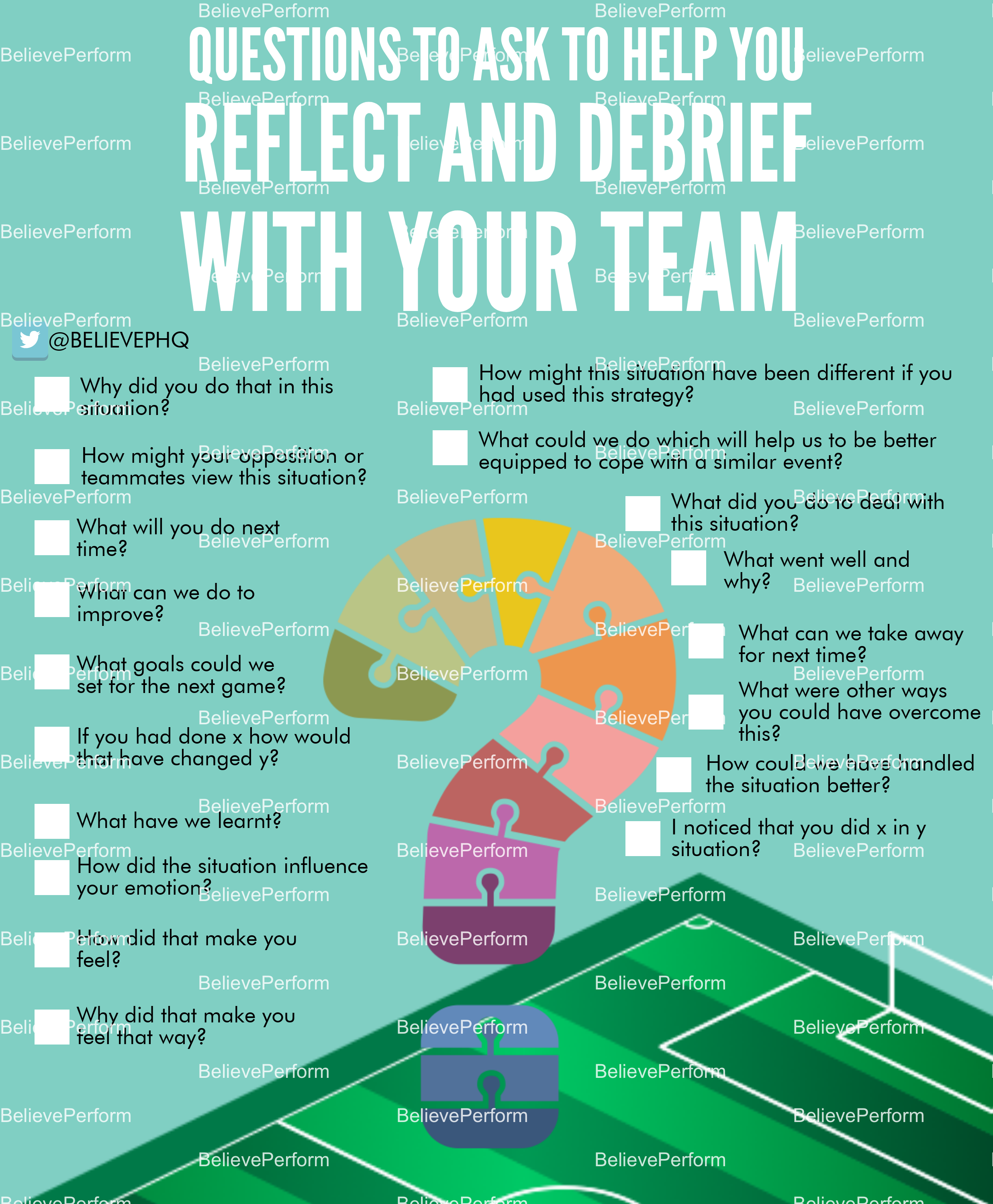Questions to ask to help you reflect and debrief with your team