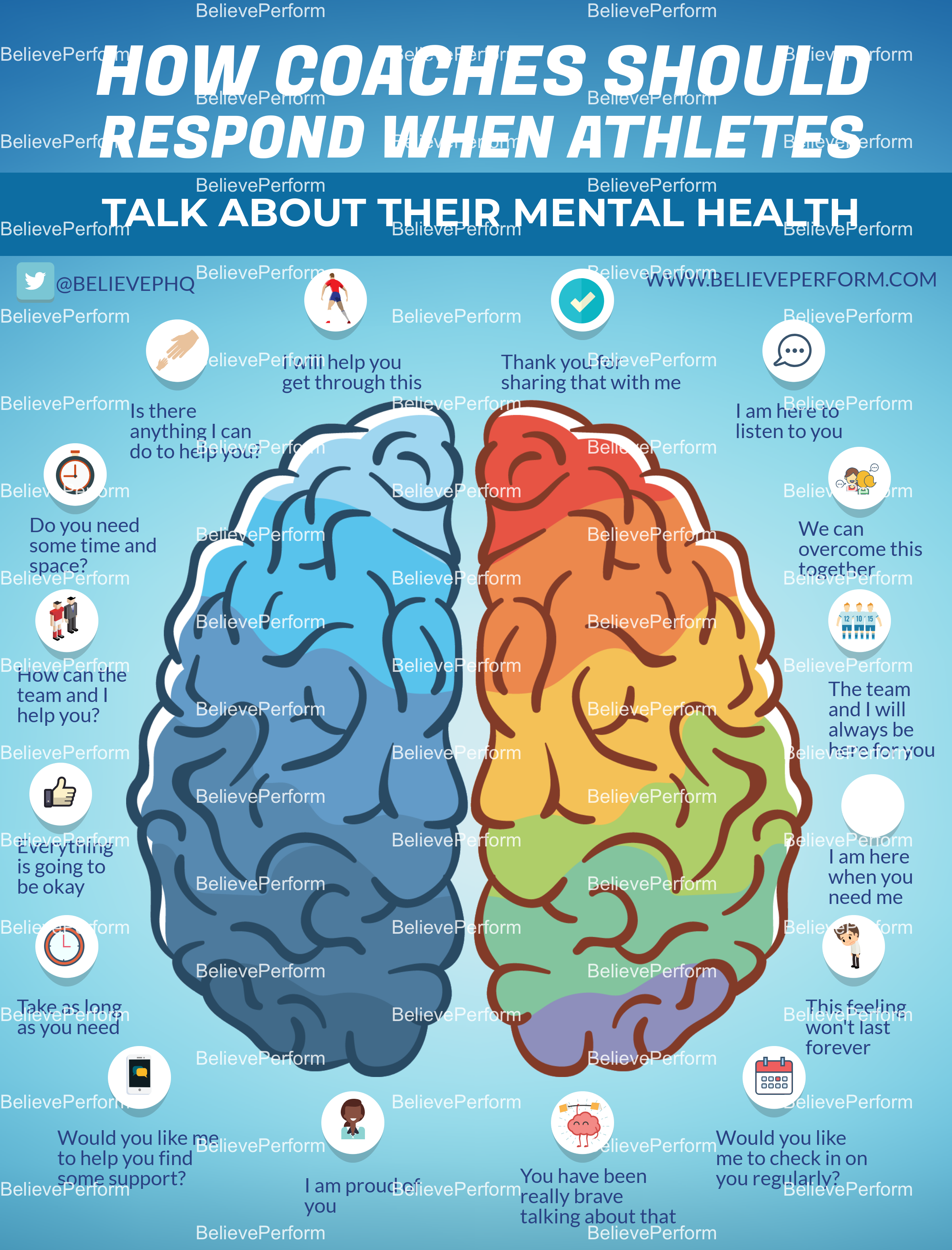 How coaches should respond when athletes talk about their mental health