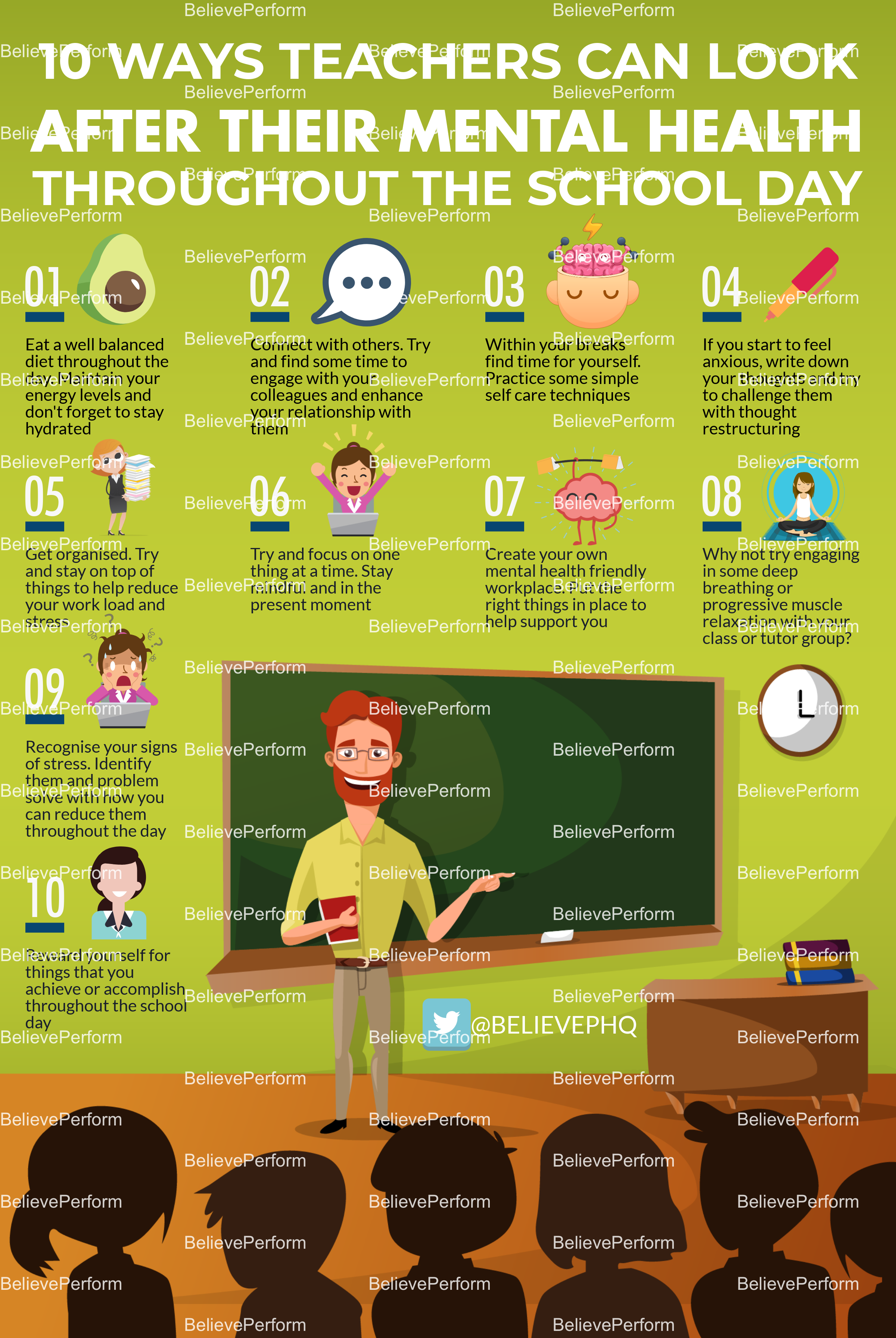 10 ways teachers can look after their mental health throughout the school day