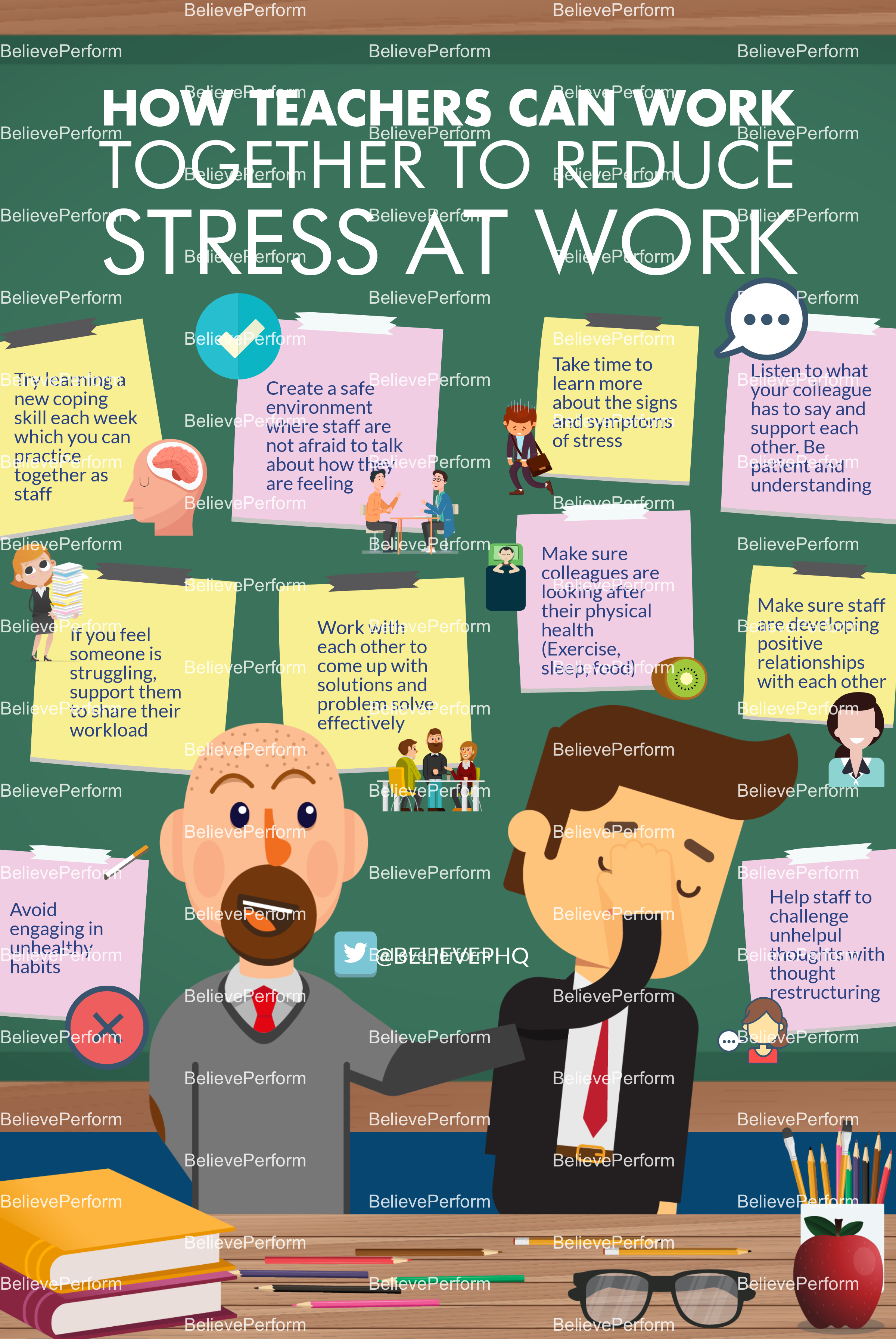 How teachers can work together to reduce stress at work