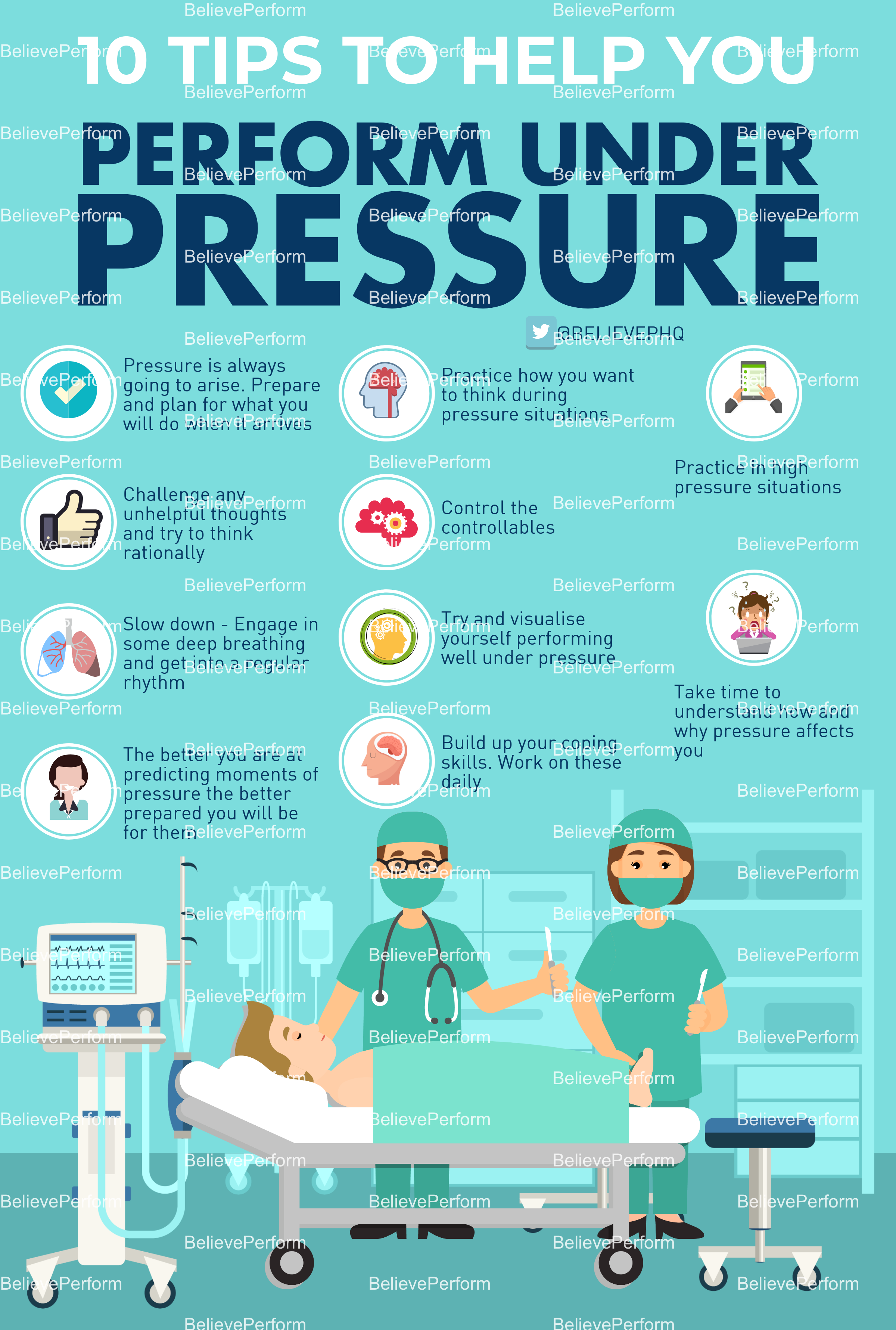10 tips to help you perform under pressure