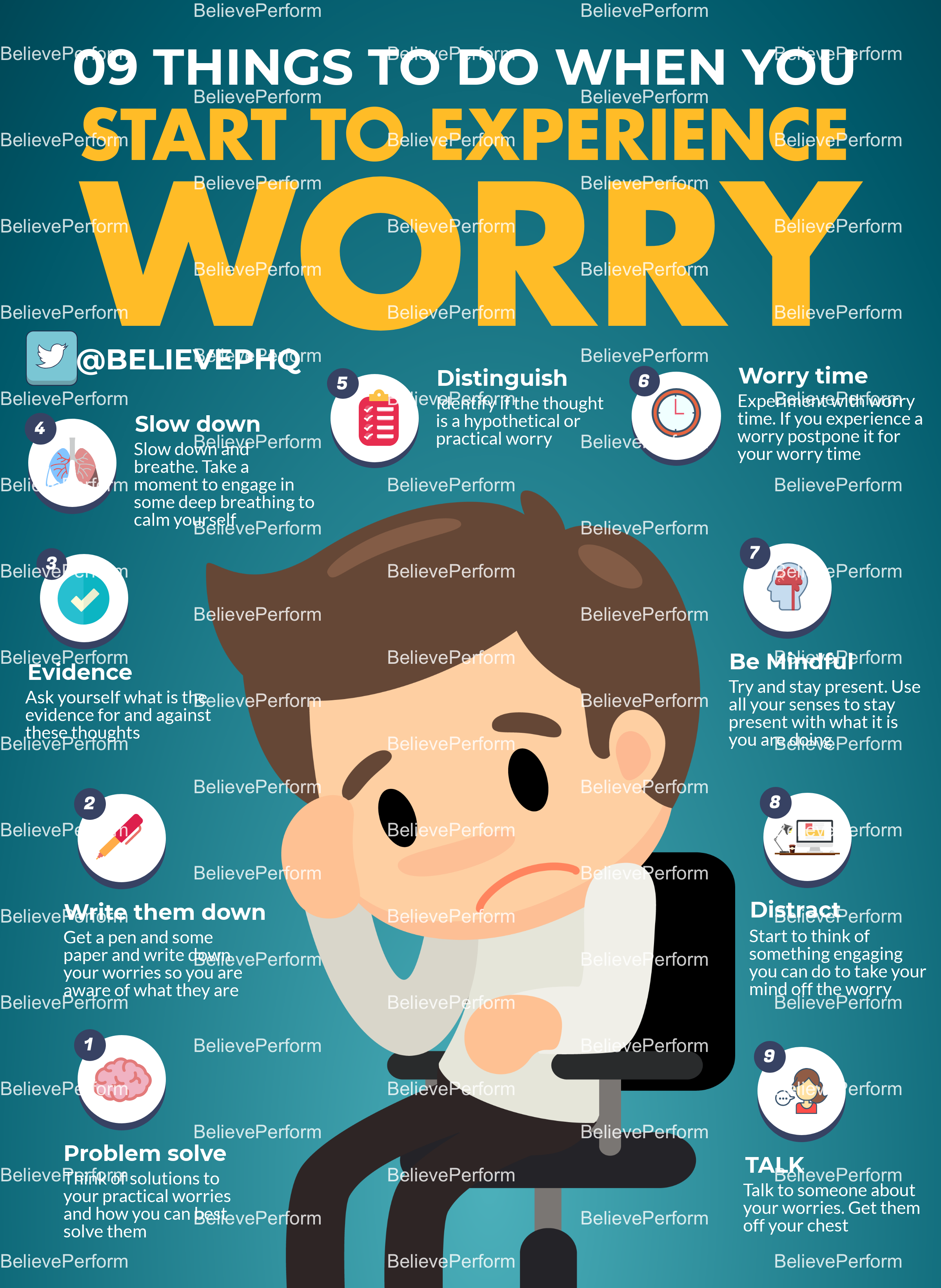 9 things to do when you start to experience worry
