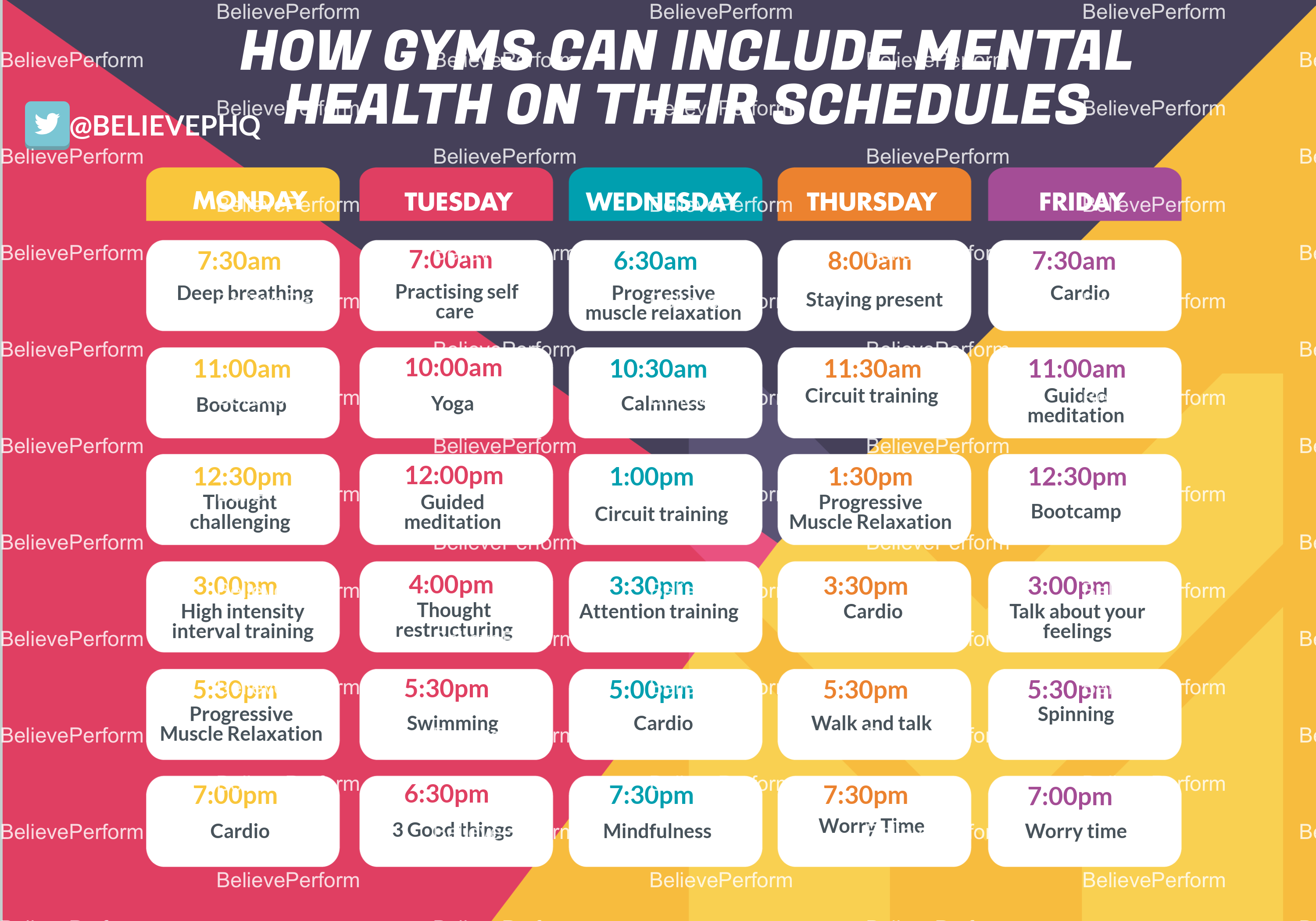 How gyms can include mental health on their training schedules