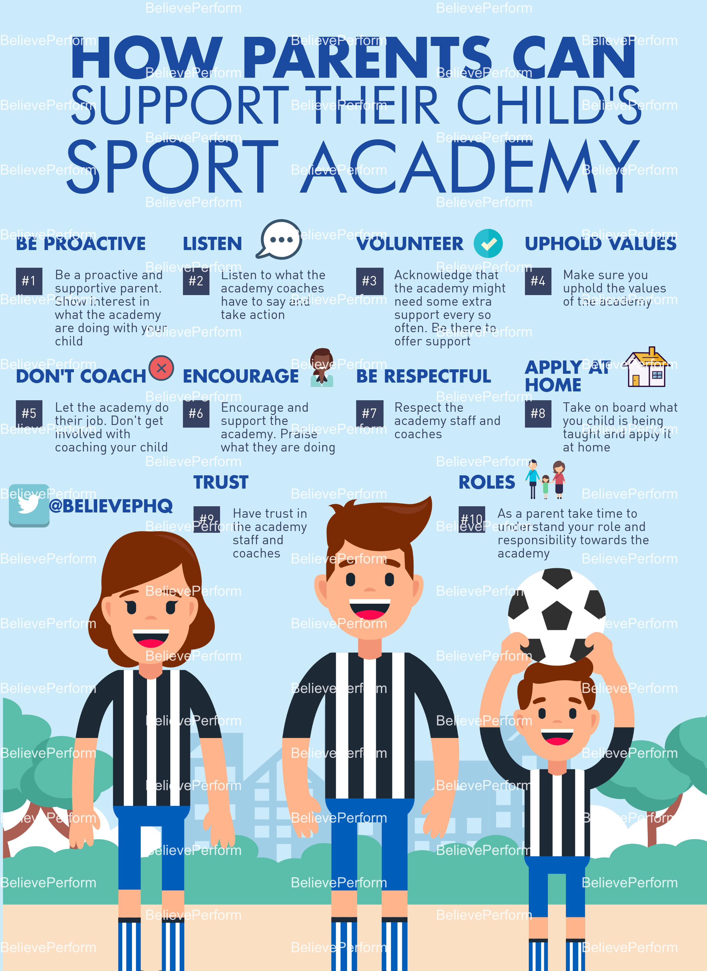 How parents can support their child's sport academy
