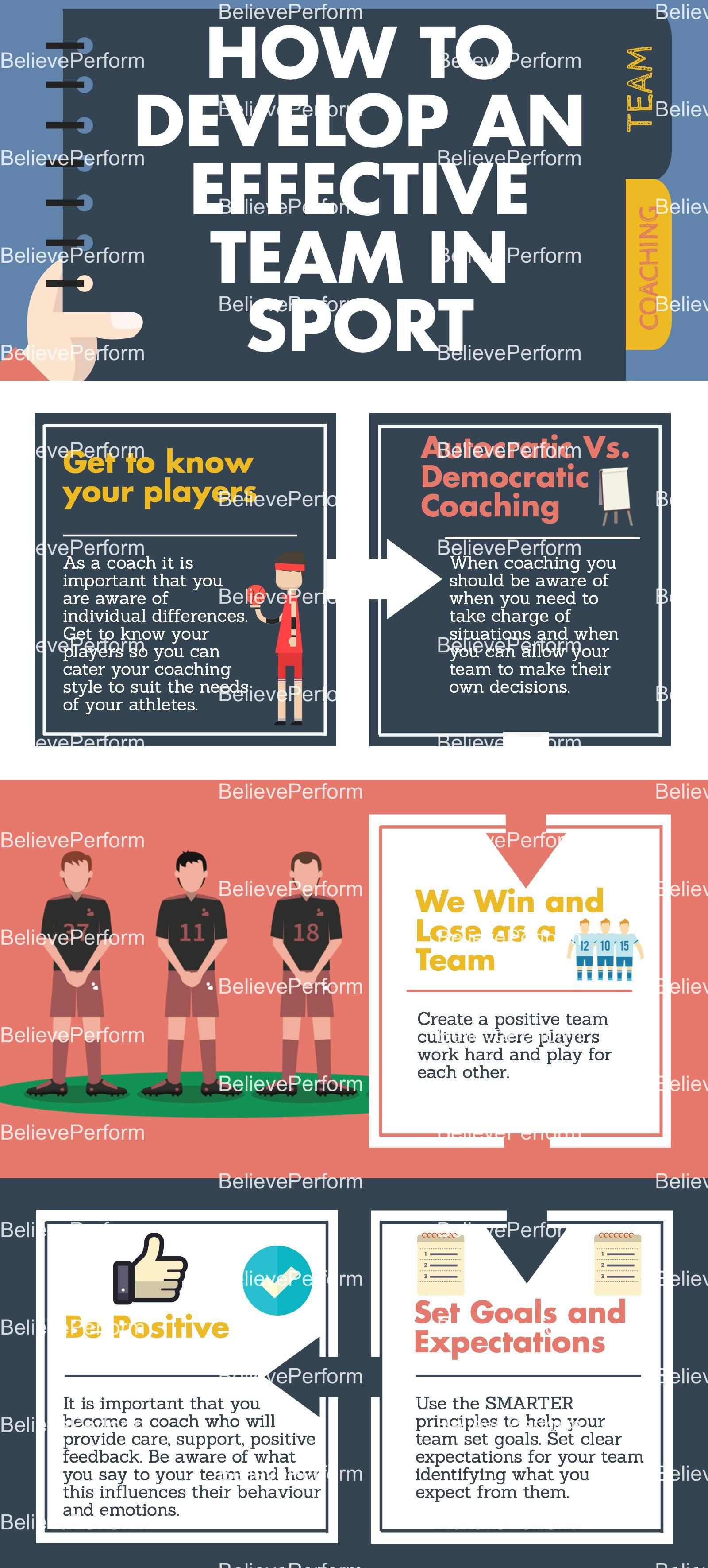 How to develop an effective team in sport