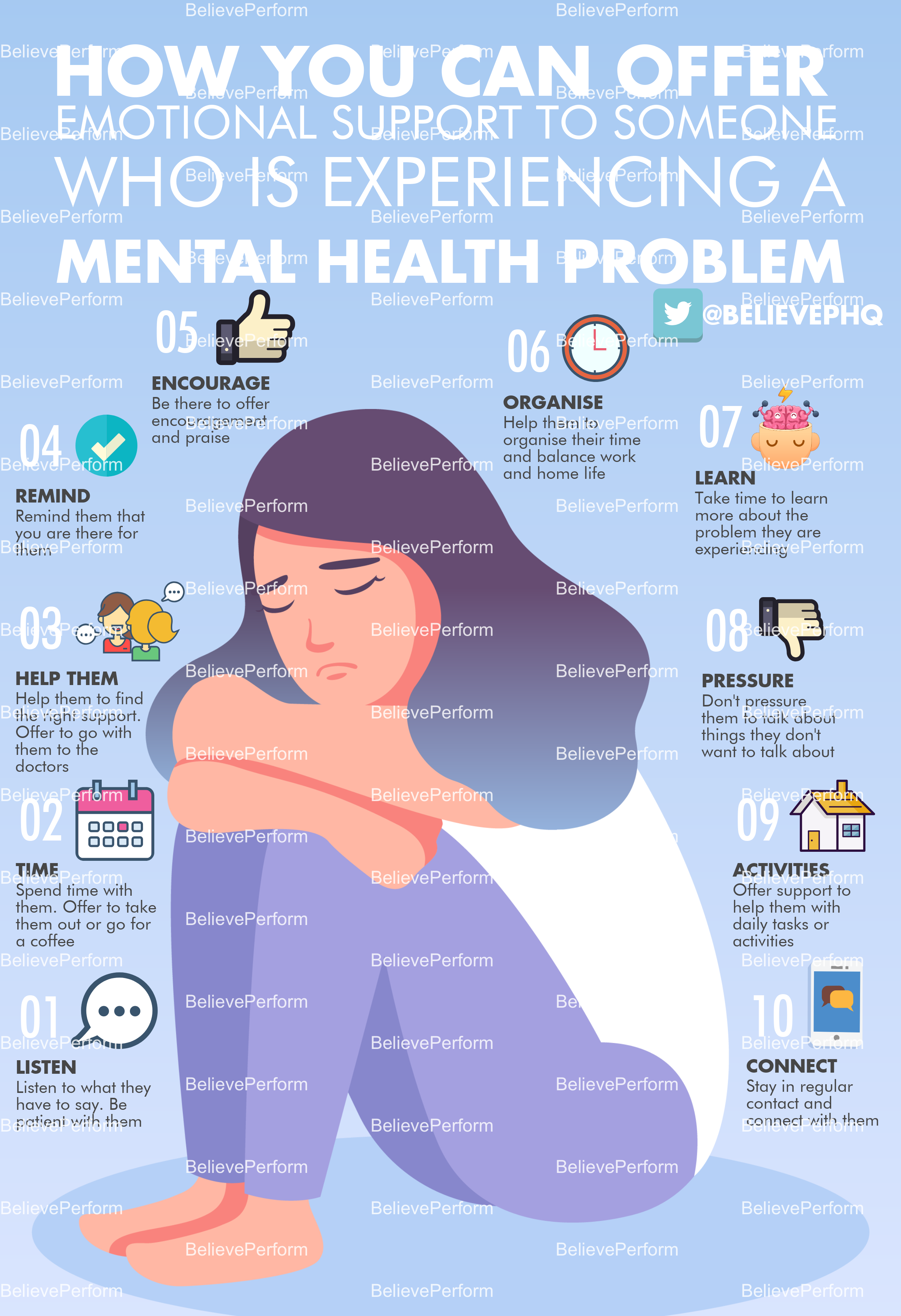 How you can offer emotional support to someone who is experiencing a mental health problem