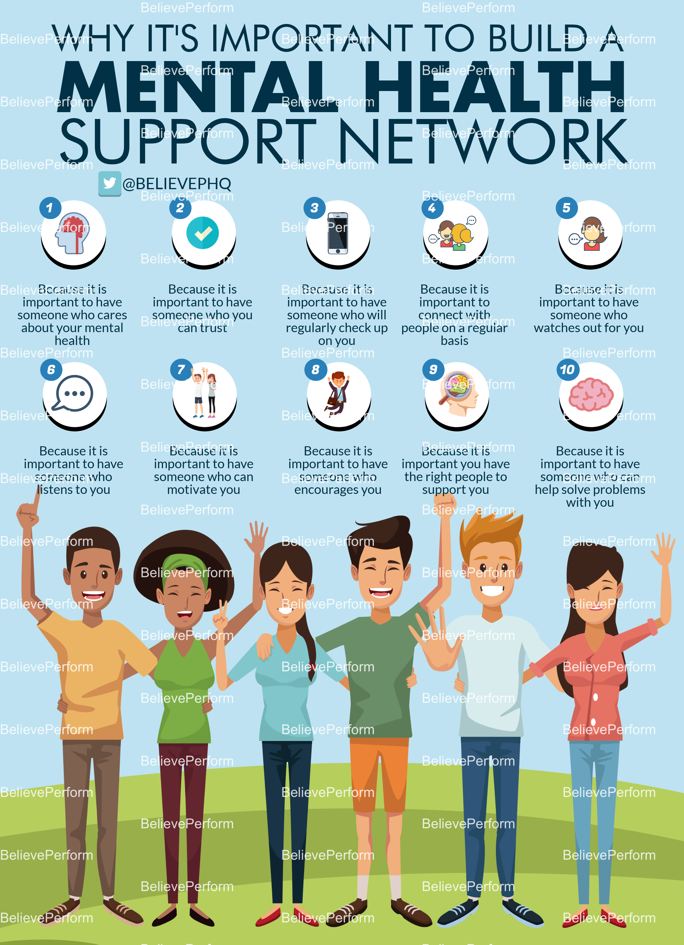Why it's important to build a mental health support network