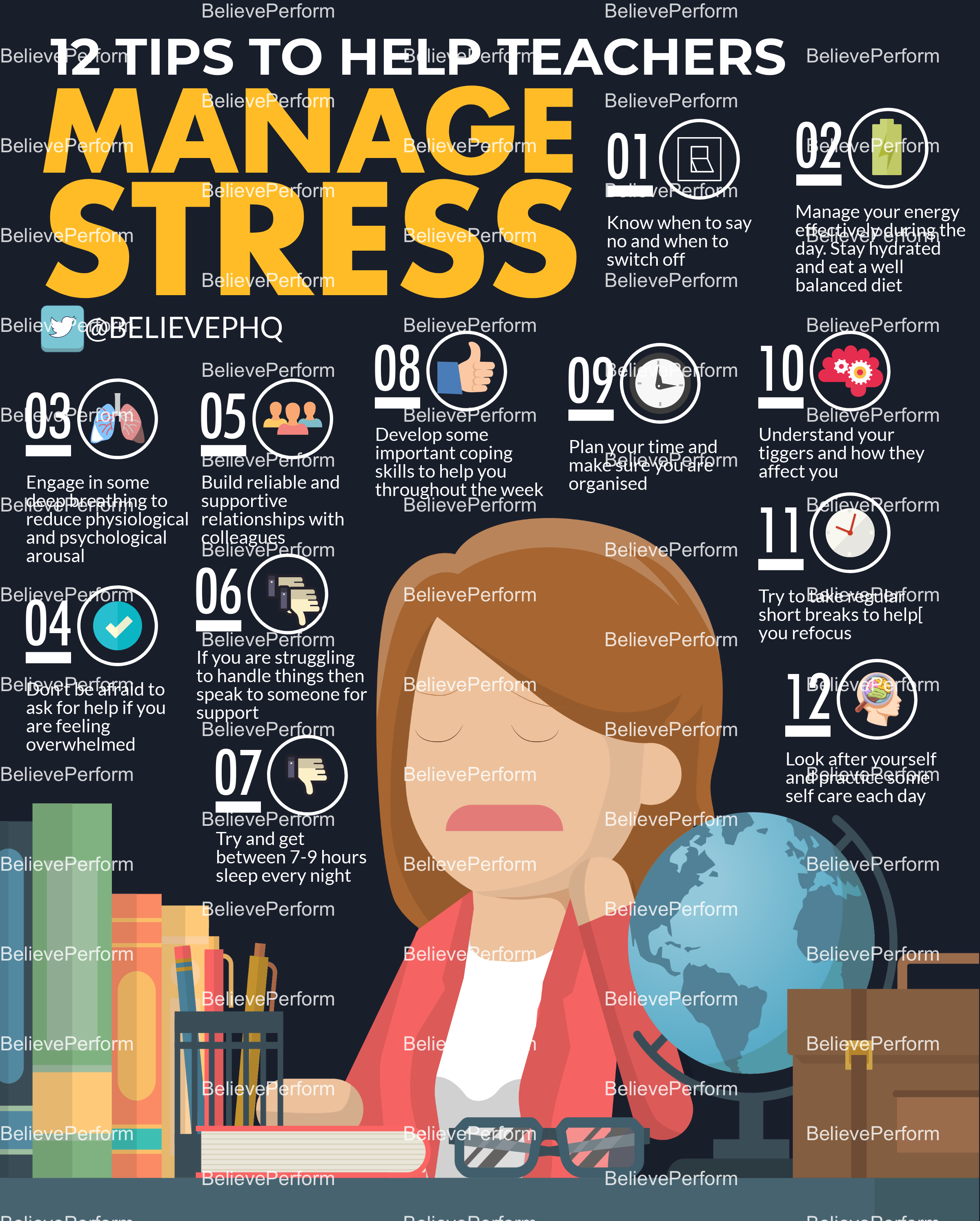 12 tips to help teachers manage stress