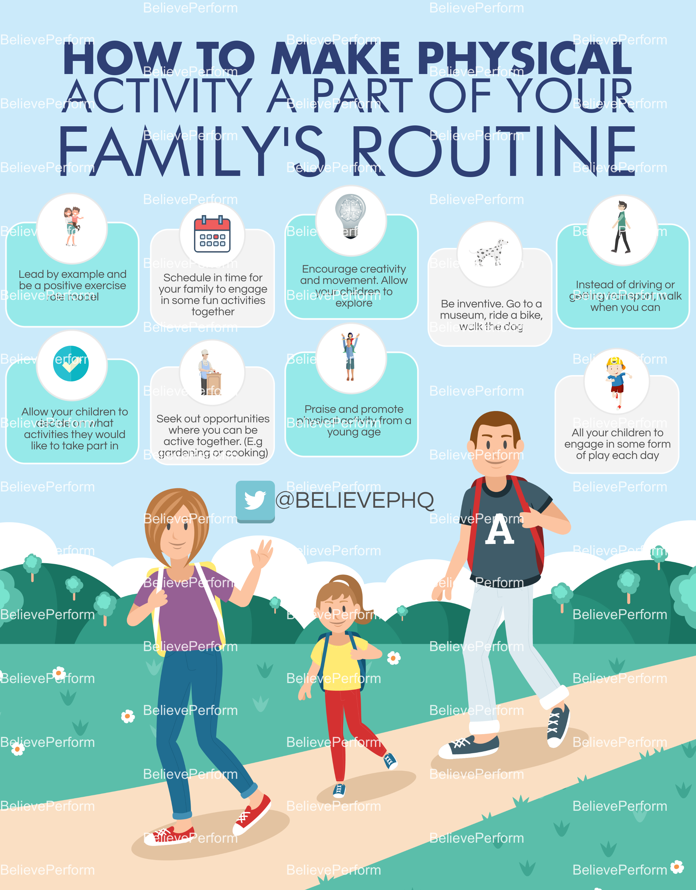 How to make physical activity a part of your family's routine