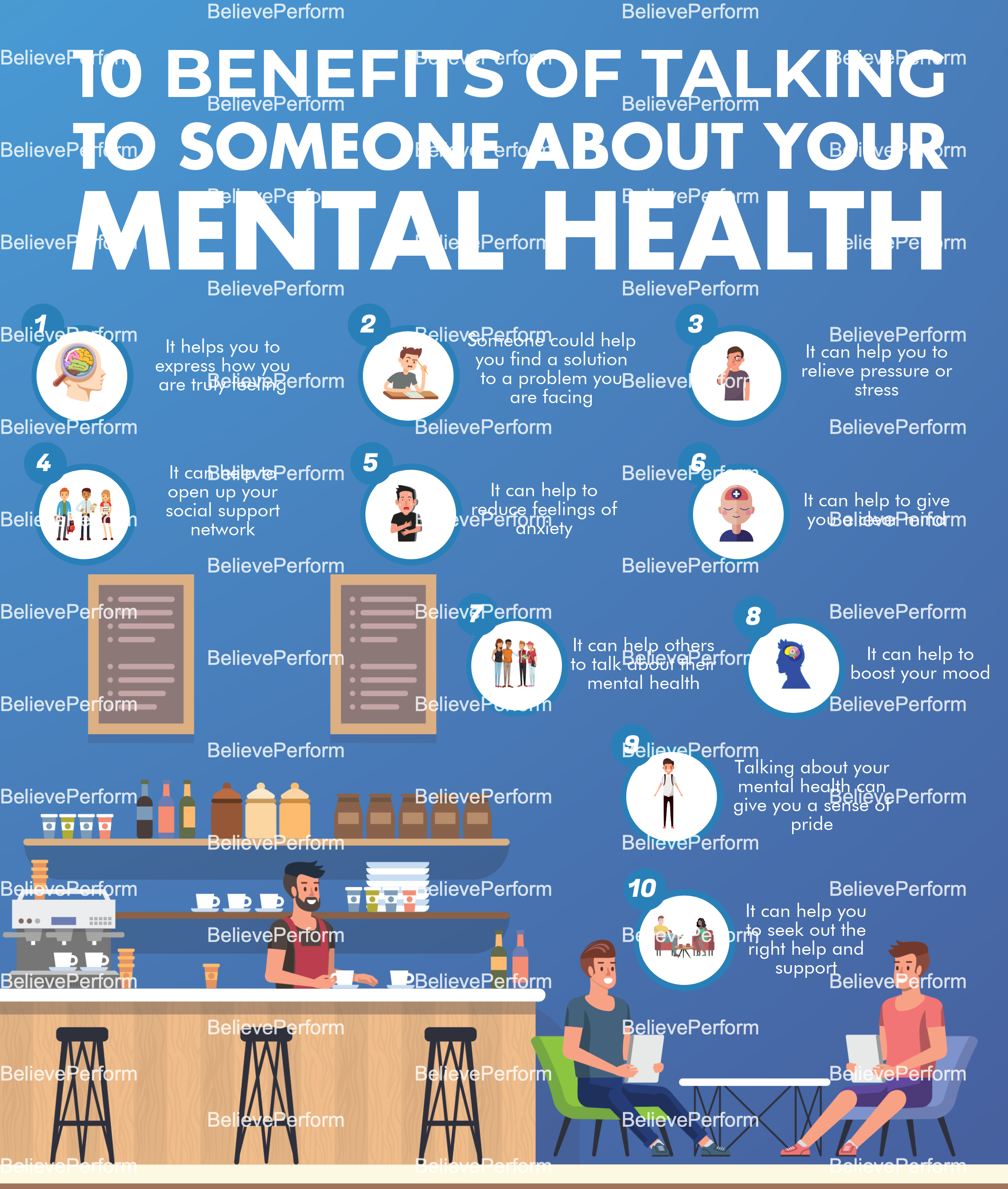 10 benefits of talking to someone about your mental health