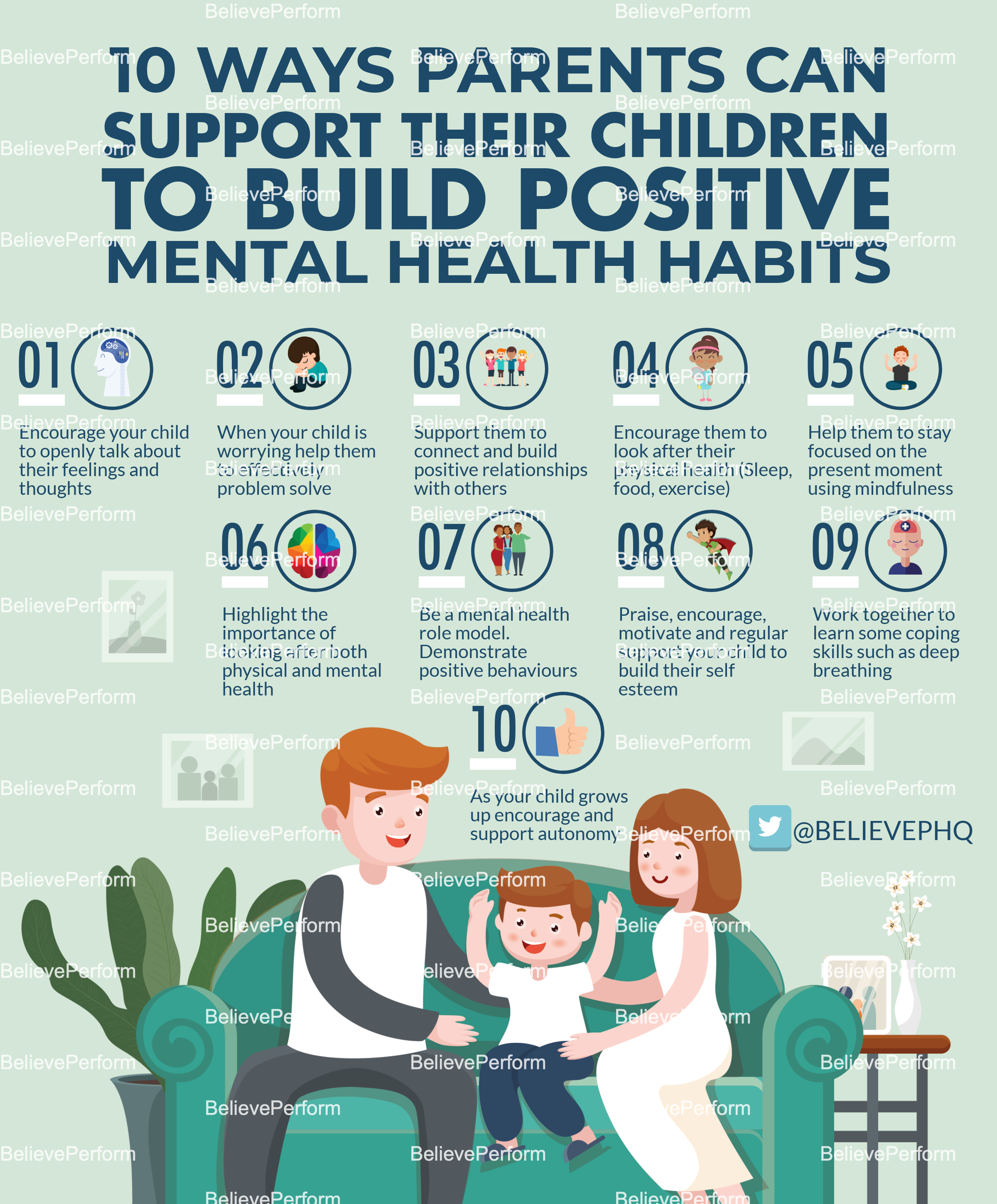 10 ways parents can support their children to build positive mental health habits