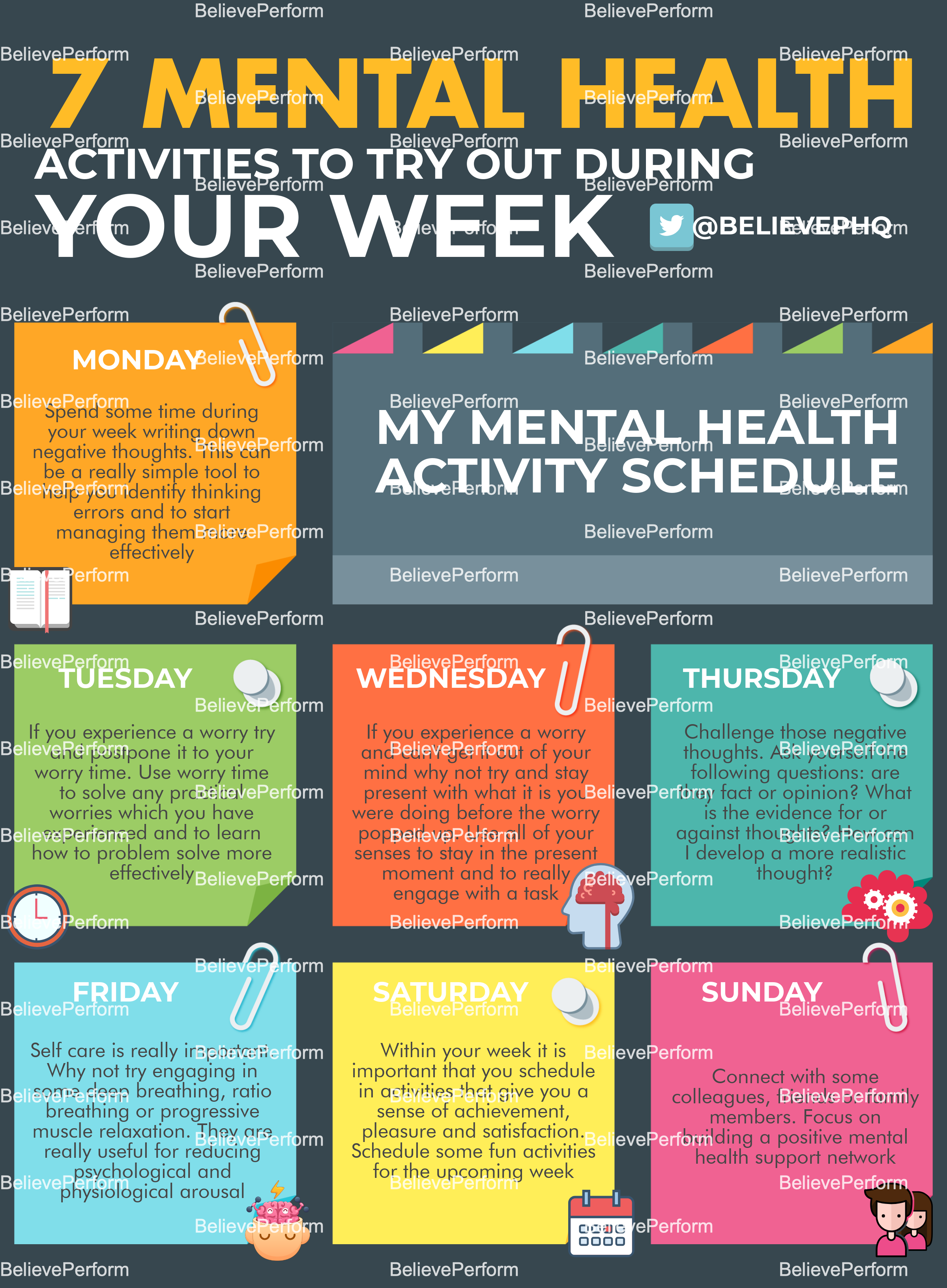 7 mental health activities to try out during the week