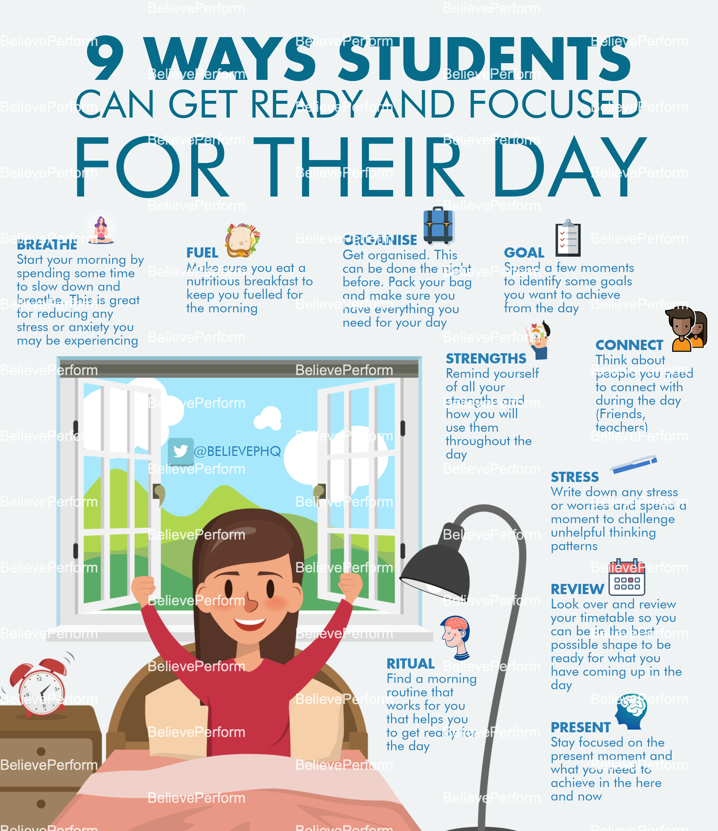 9 ways students can get ready and focused for their day