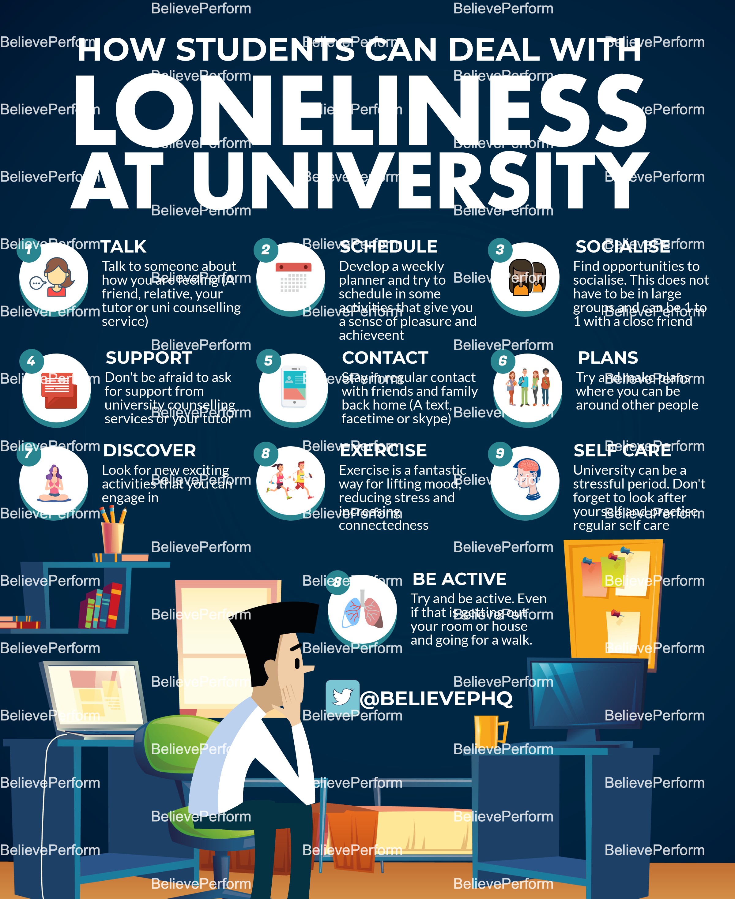 How students can deal with loneliness at university