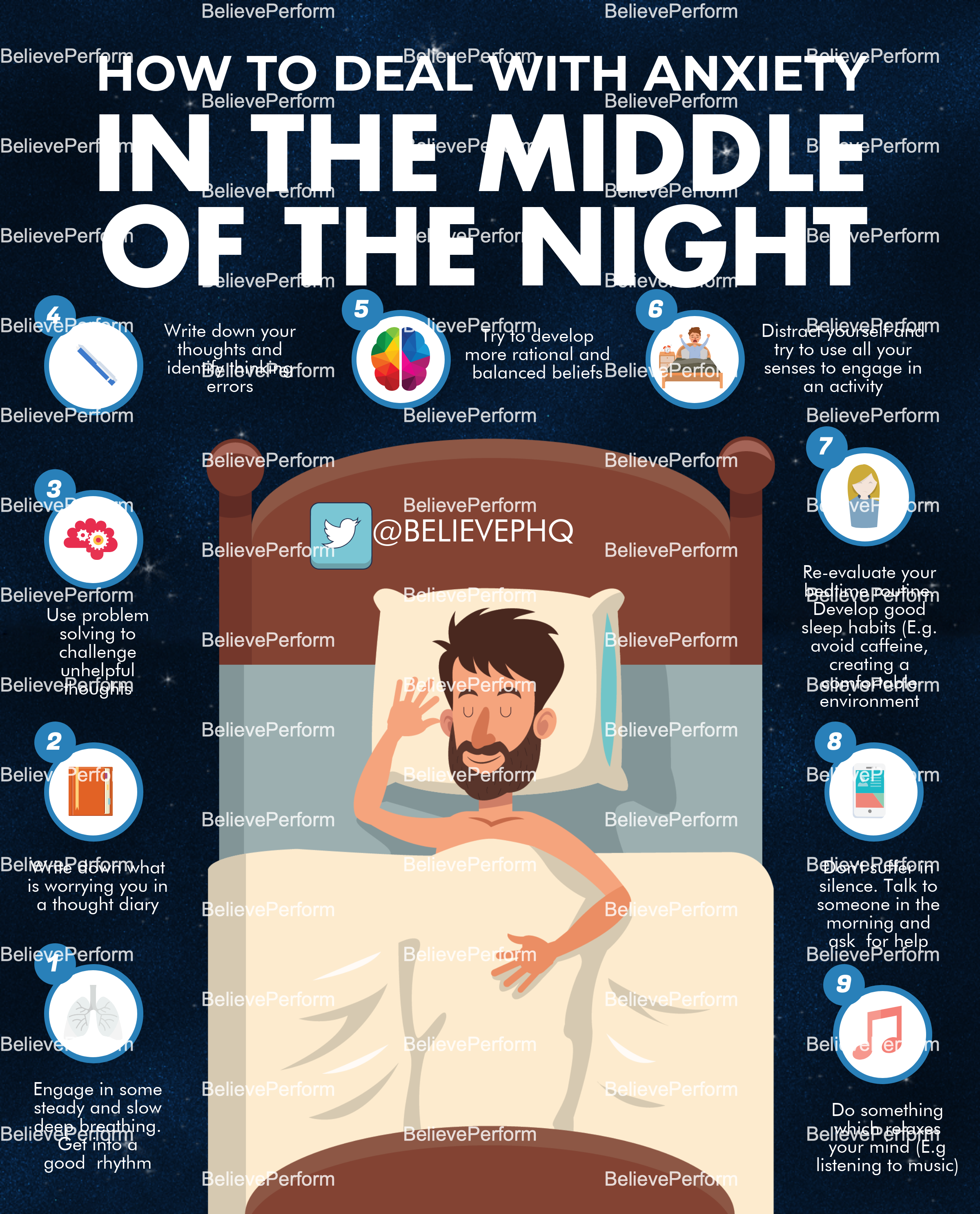 How to deal with anxiety in the middle of the night