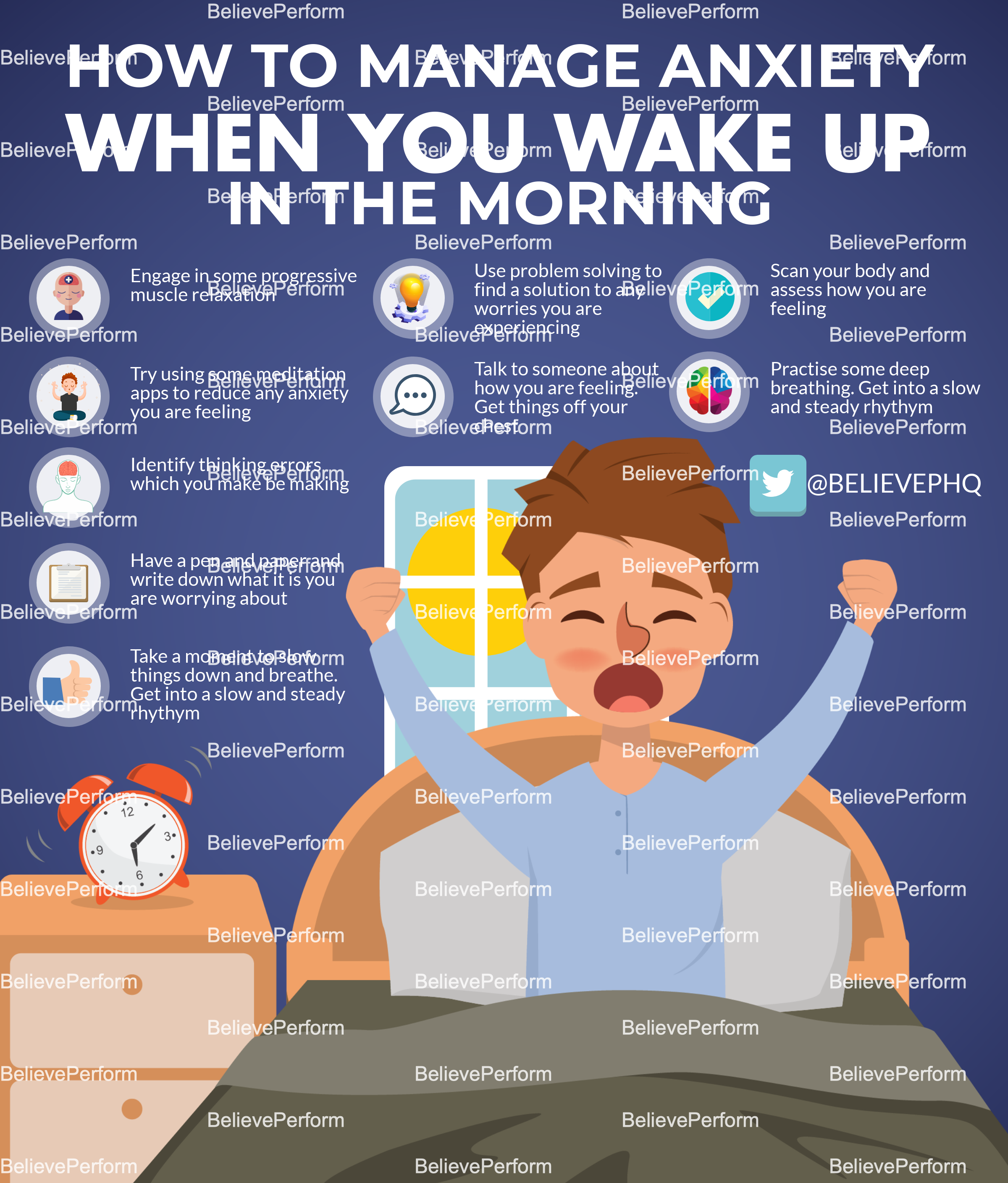 How to manage anxiety when you wake up in the morning