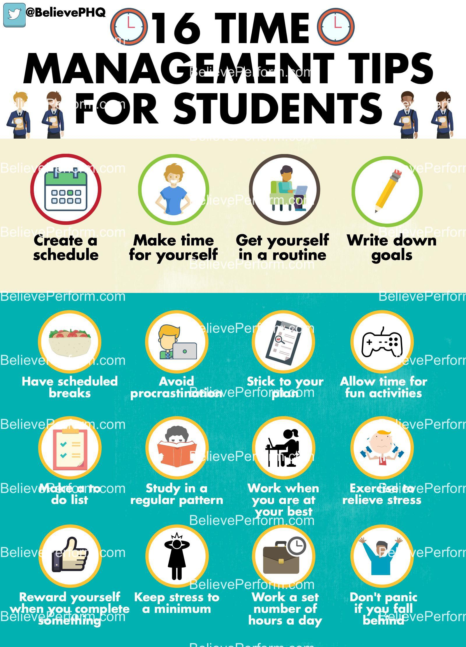 16 Time Management Tips For Students Believeperform The Uk S Leading Sports Psychology Website